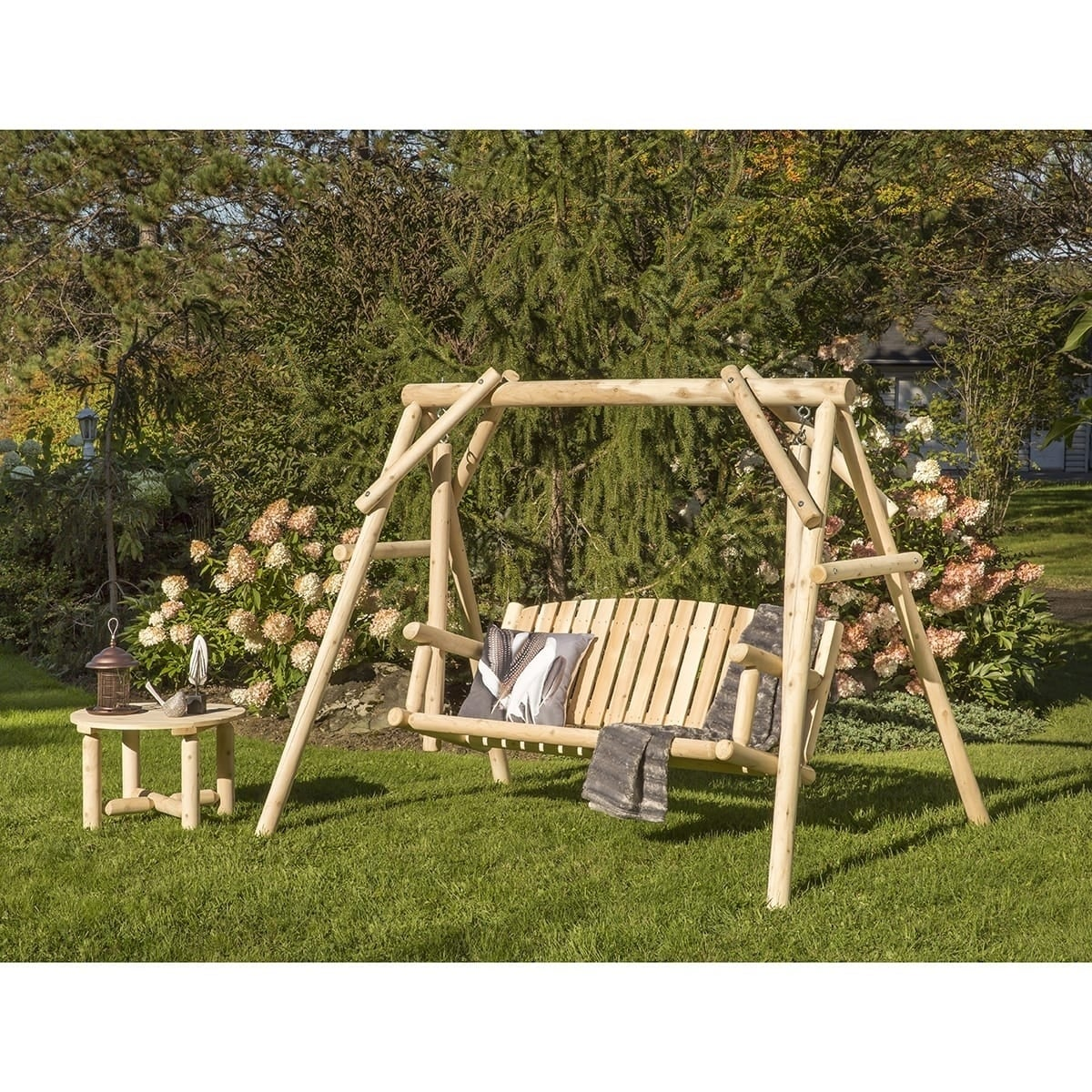 Shop Bestar White Cedar Swing and Coffee Table Set - Free Shipping ...