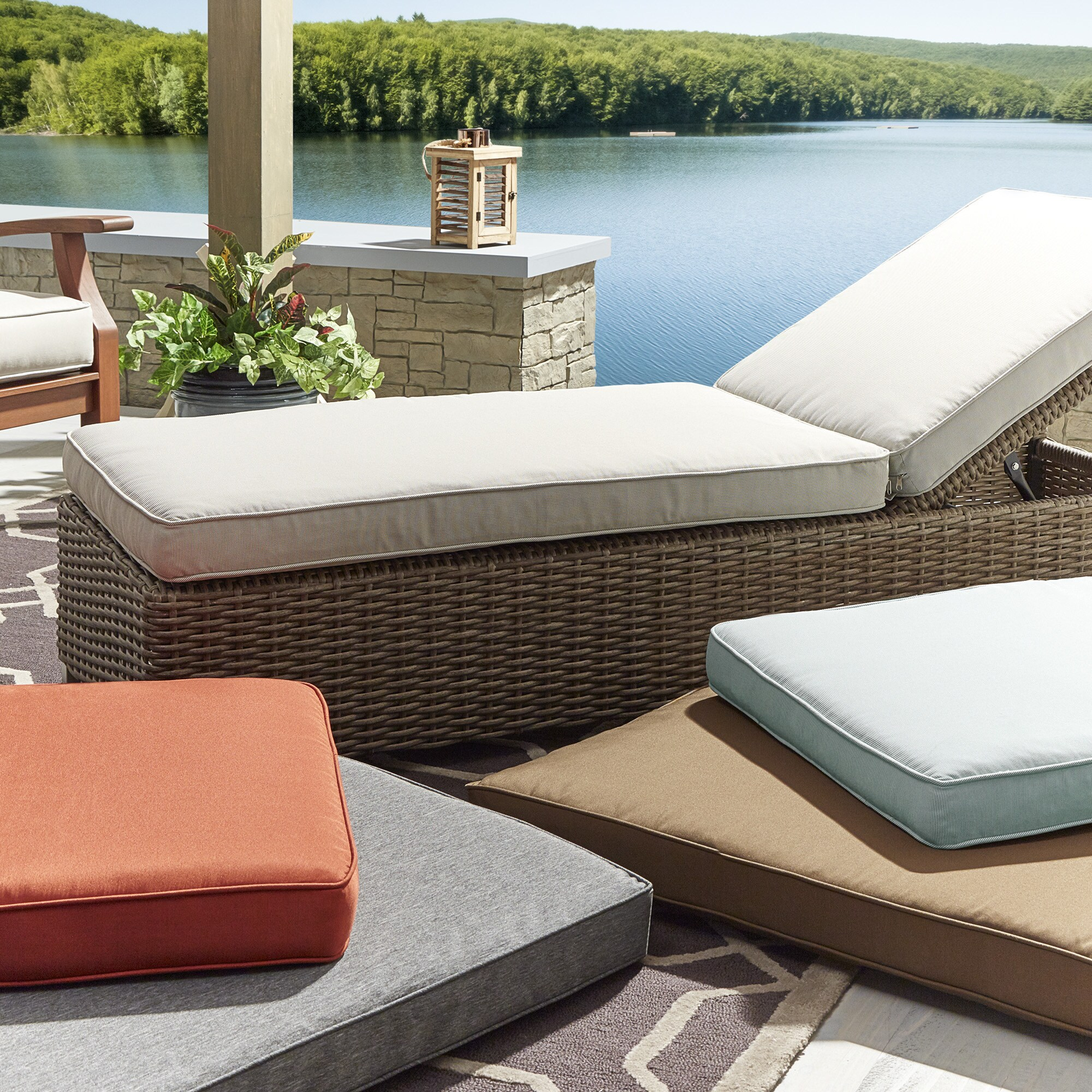 Shop Isola Outdoor Fabric Lounge Chair Cushion INSPIRE Q Oasis   Free  Shipping Today   Overstock.com   14679490