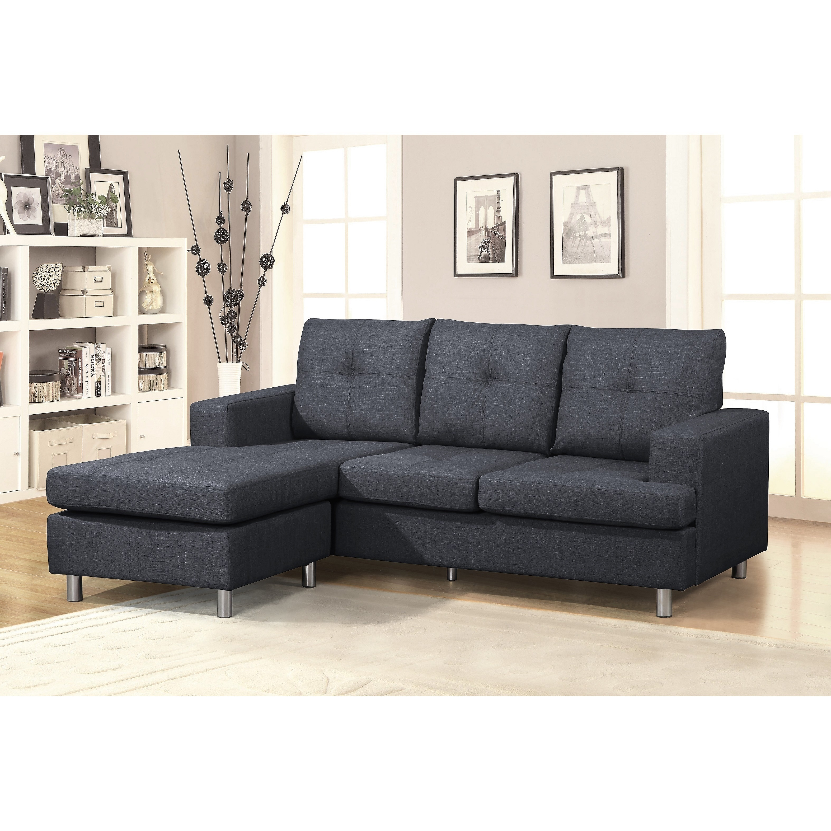 Shop Us Pride Furniture Modern Reversible Chaise Sectional Sofa On