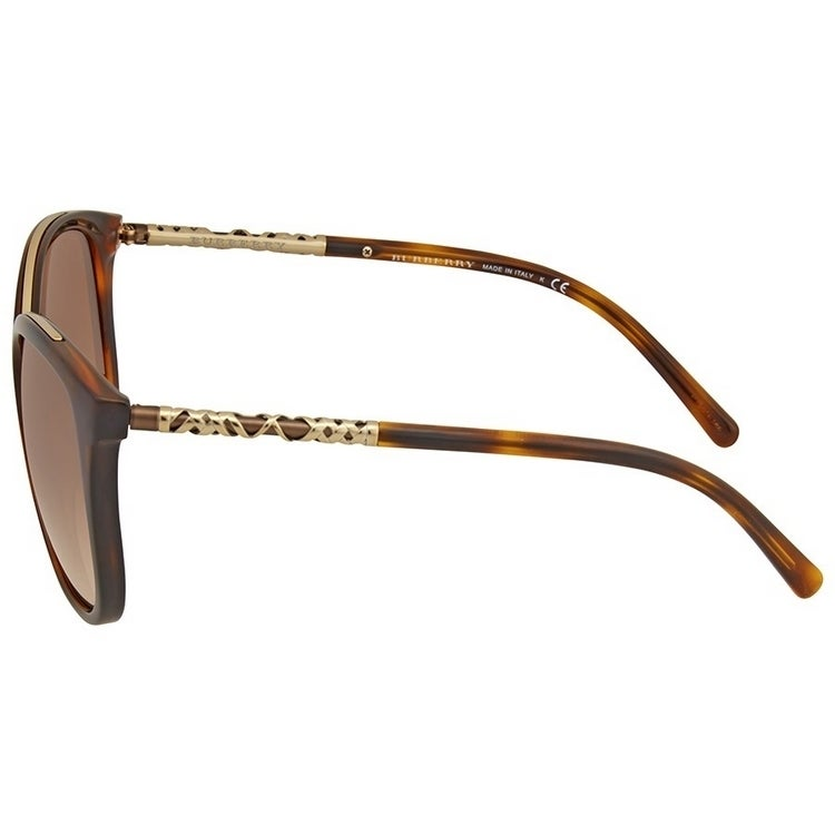 d025ae07d78c Shop Burberry Women s BE4237 331613 57 Square Metal Plastic Havana Brown  Sunglasses - Ships To Canada - Overstock - 14680189