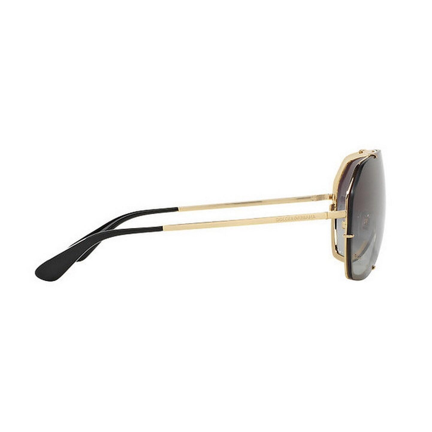 082eccaf5060 Shop Dolce   Gabbana Women s DG2162 02 8G 37 Aviator Metal Plastic Gold  Grey Sunglasses - Free Shipping Today - Overstock - 14680230