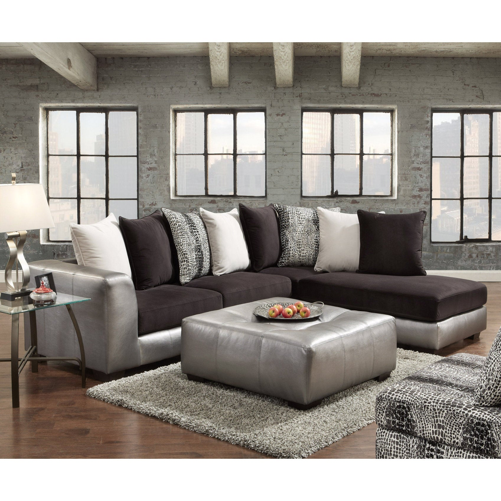 industries furniture couch item grey upholstery raflvseat slate sectional br rolled simmons with products number sofa transitional