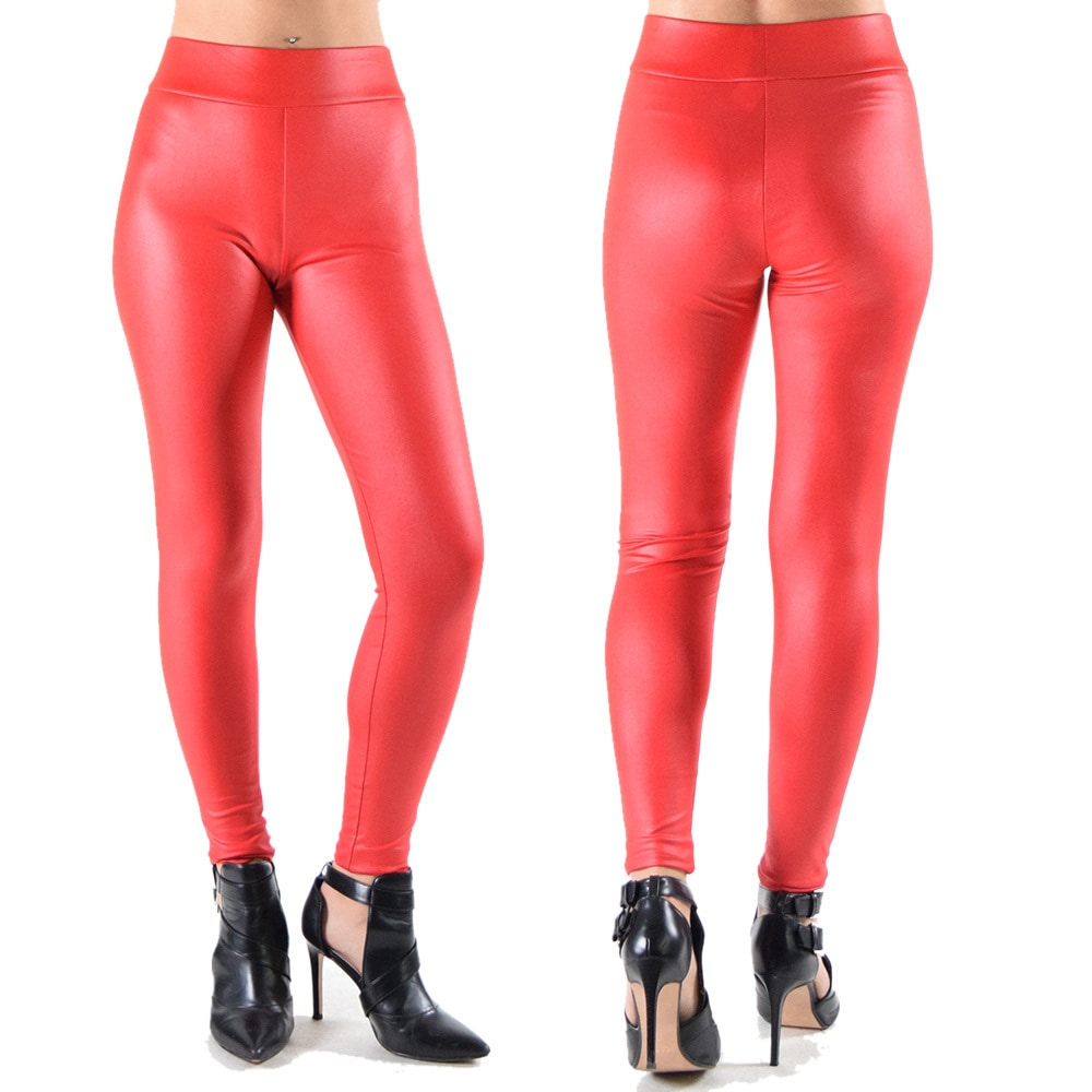 0e2f9896567fb Shop Dinamit Women's Faux Leather Leggings - Free Shipping On Orders Over  $45 - Overstock - 14681587