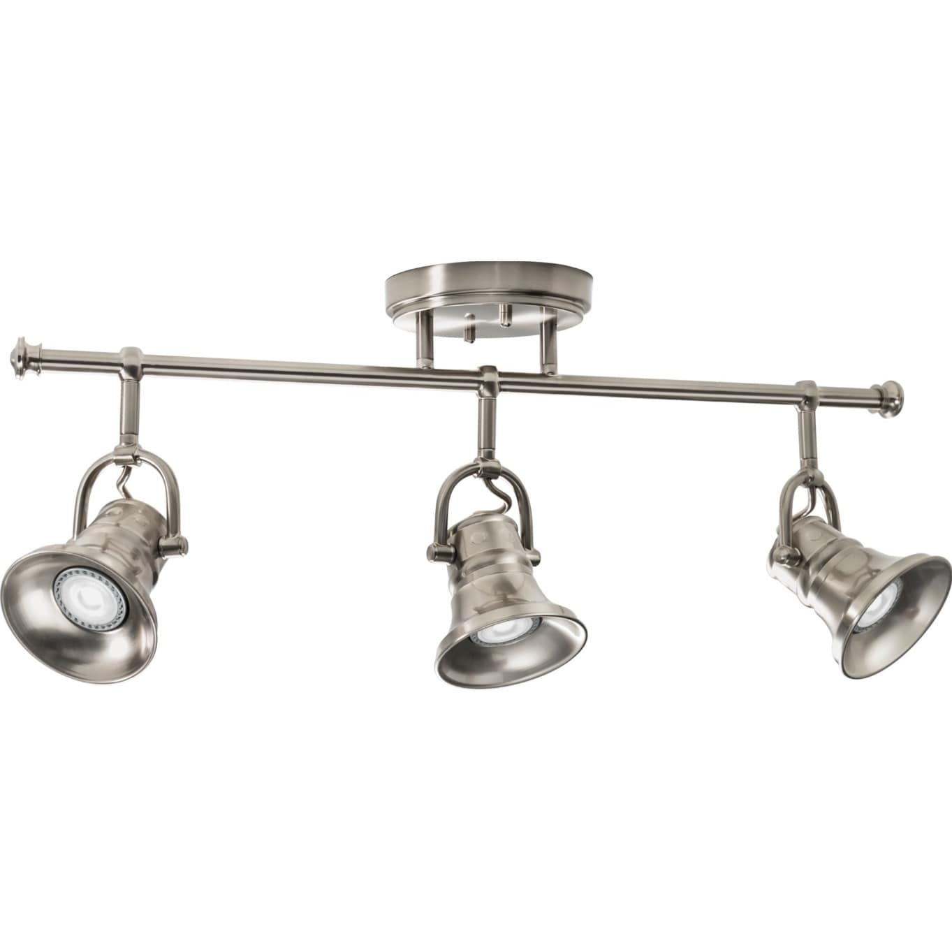 Shop lithonia lighting brushed nickel led 3 head flare skirt fixed shop lithonia lighting brushed nickel led 3 head flare skirt fixed track light kit free shipping today overstock 14681688 mozeypictures Image collections