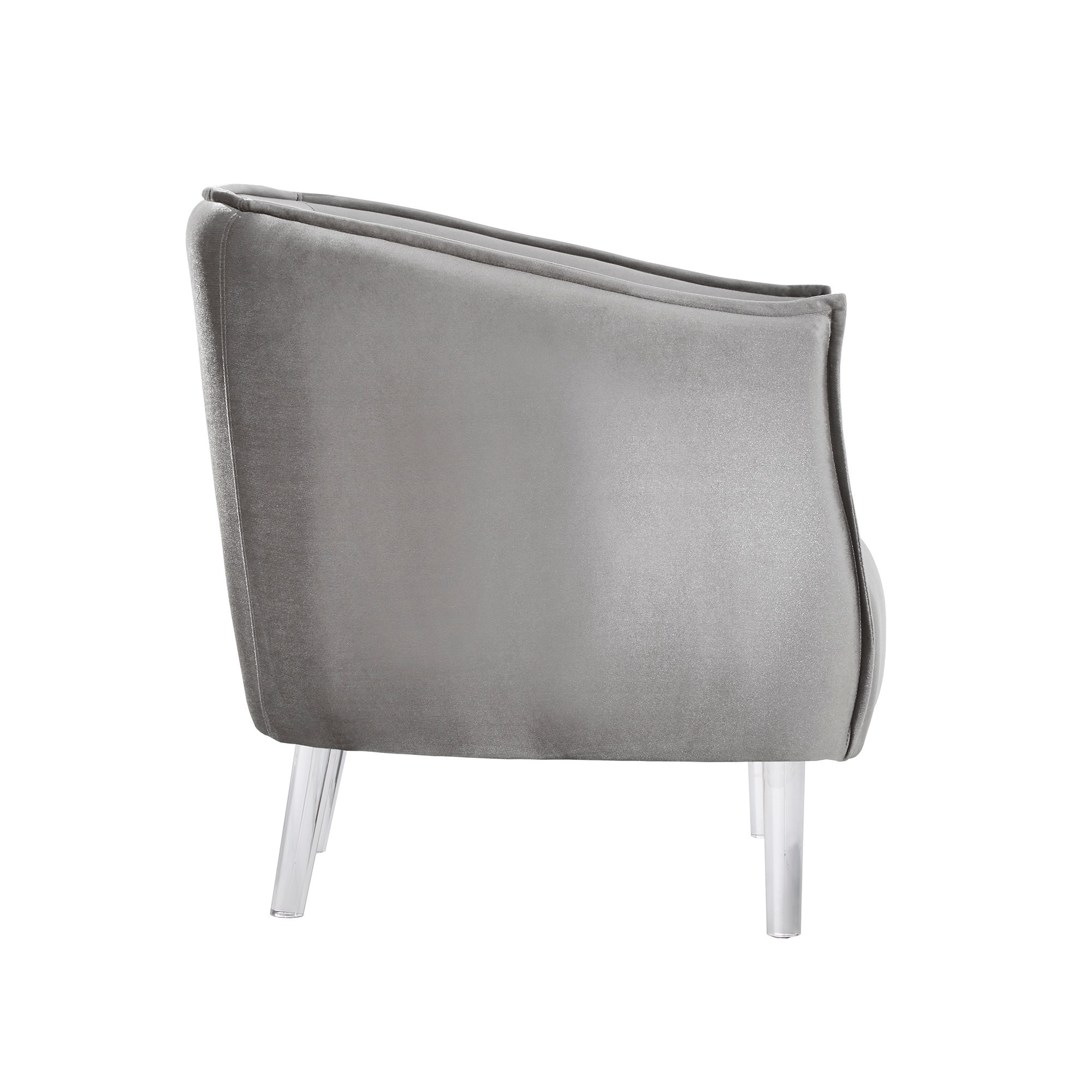 Shop Vianne Velvet Curved Back Acrylic Leg Accent Chair By INSPIRE Q Bold    On Sale   Free Shipping Today   Overstock.com   14690379