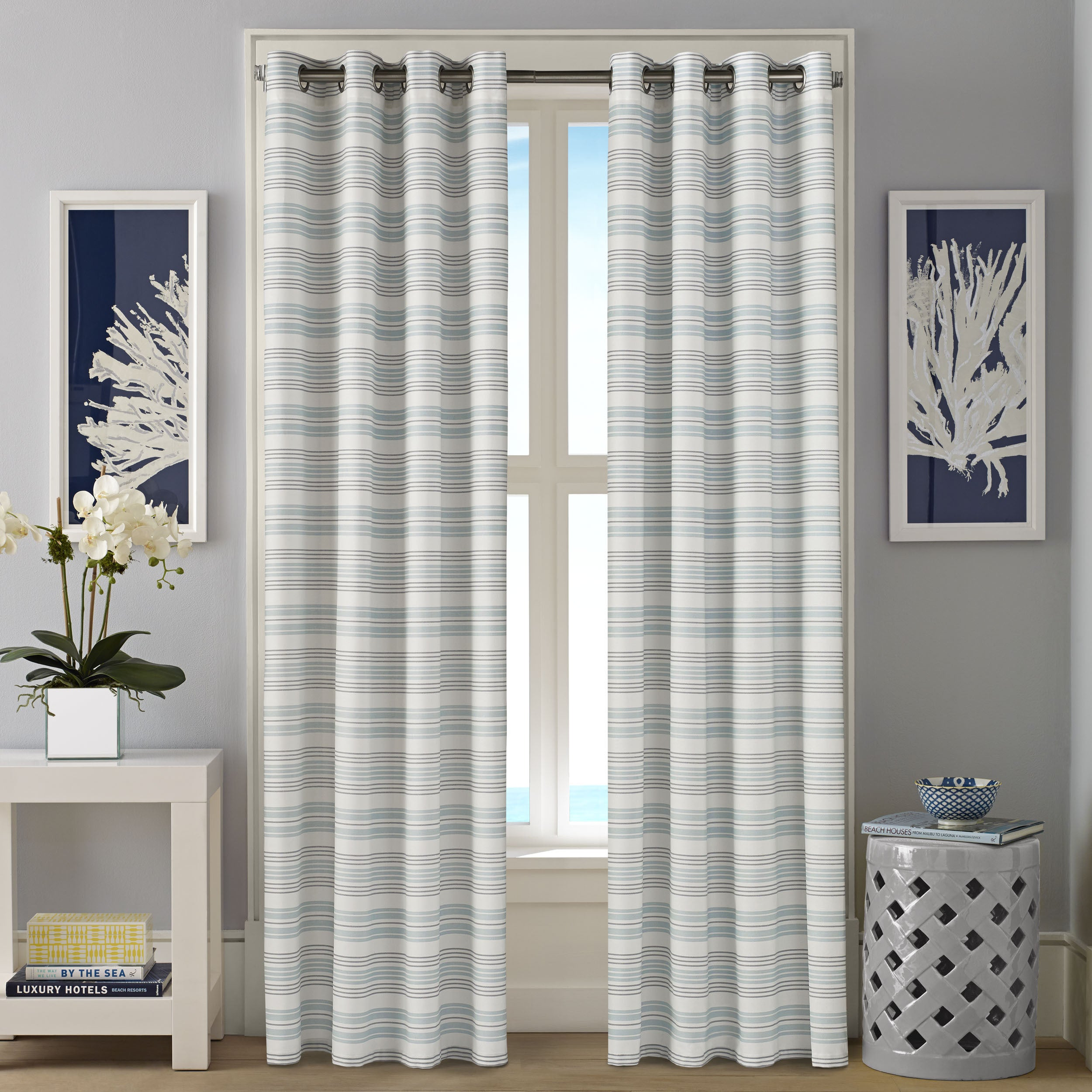 stripe coastal striped blue curtain full excellent curtains pinterest and of whiteipe nautica concept decor navy nauticaliped white size red cabana ticking image