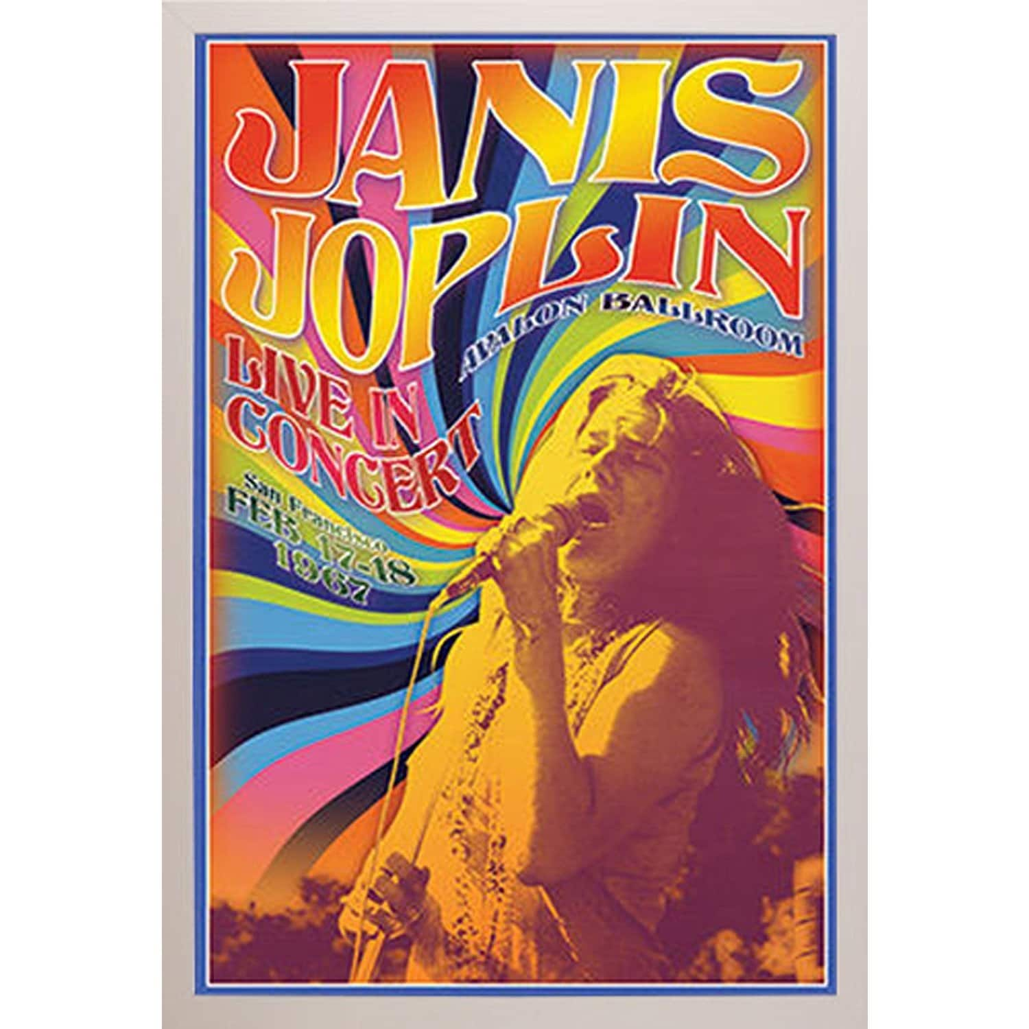 Shop \'Janis Joplin in Concert\' Framed Poster - Free Shipping Today ...