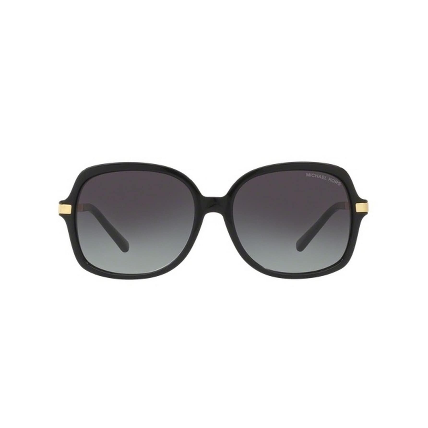 81fed31603e76 Shop Michael Kors Women s MK2024 316011 57 Square Metal Plastic Black Grey  Sunglasses - Free Shipping Today - Overstock.com - 14692019