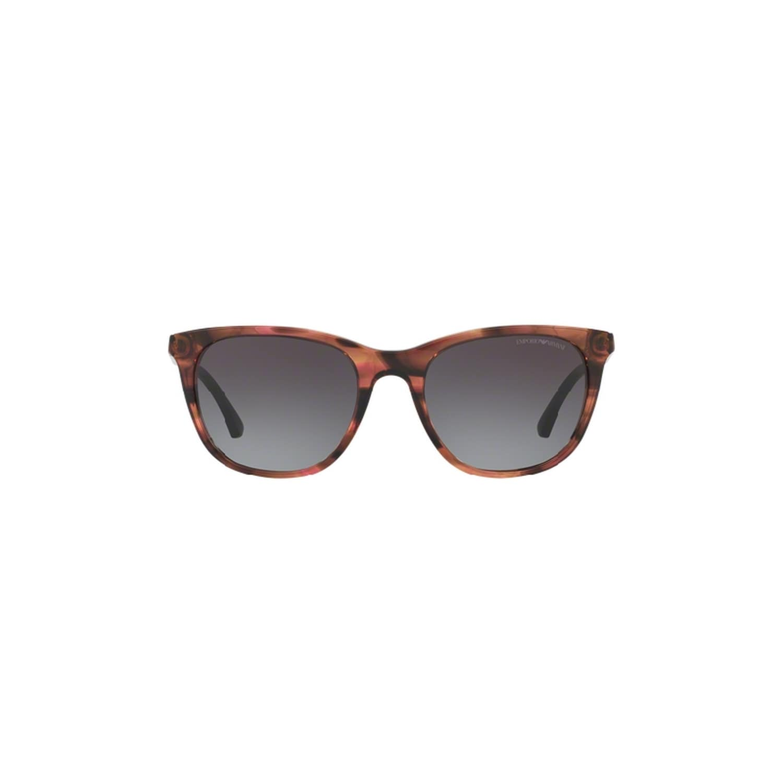 ea6baddb09c Shop Emporio Armani Women s EA4086 55538G 54 Square Plastic Pink Grey  Sunglasses - Free Shipping Today - Overstock - 14692196