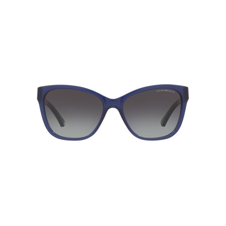 01b8a8f5b951 Emporio Armani Women s EA4068F 50178G 57 Square Plastic Black Grey  Sunglasses