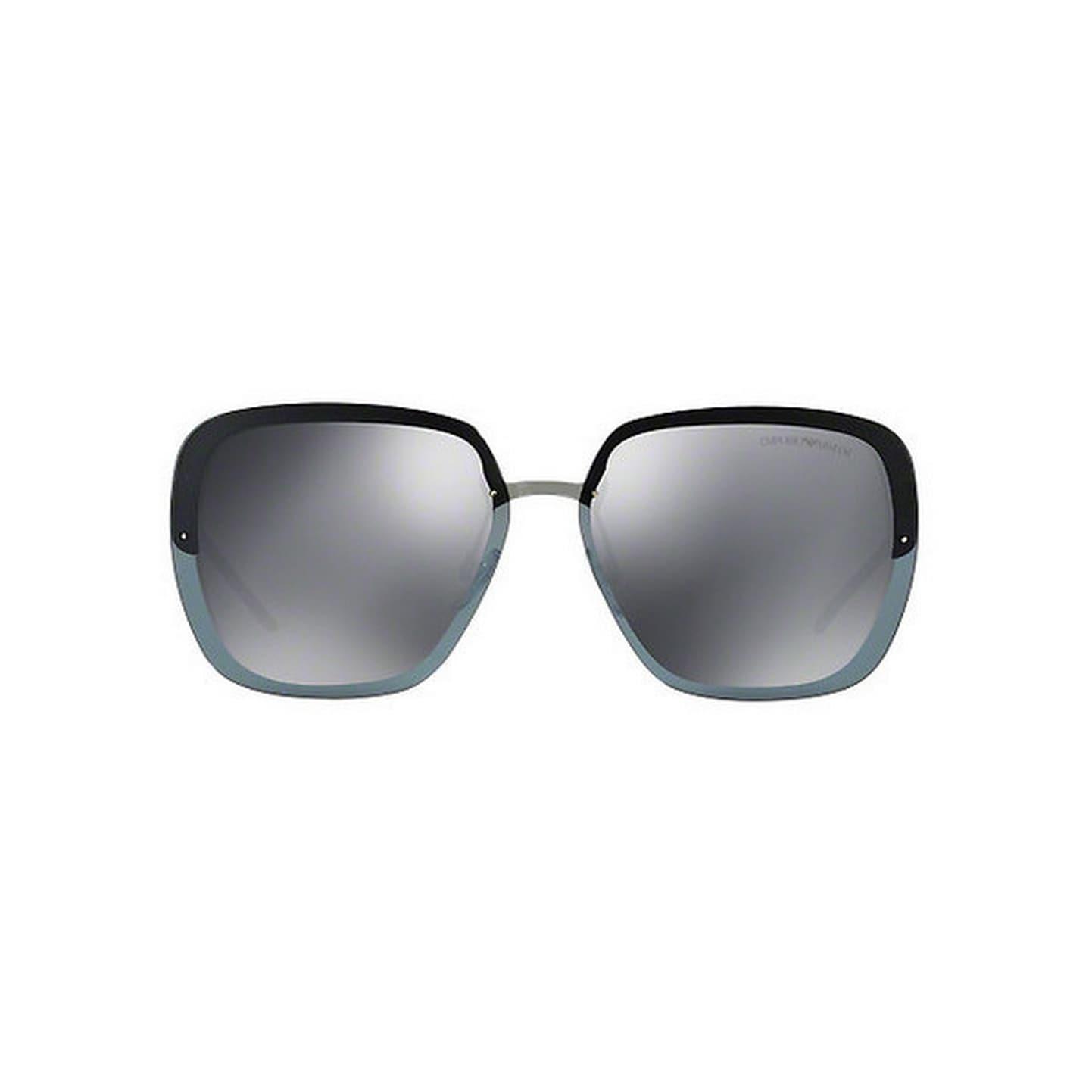 a267717663 Shop Emporio Armani Women s EA2045 30106G 62 Square Metal Plastic Gunmetal  Grey Sunglasses - Free Shipping Today - Overstock.com - 14692289