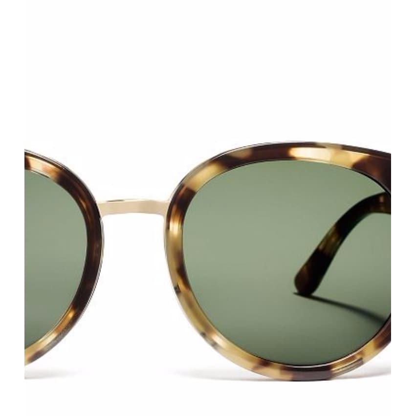 c153001399 Shop Tory Burch TY7062 Womens Havana Frame Grey Lens Round Sunglasses -  Tortoise - Ships To Canada - Overstock - 14692302