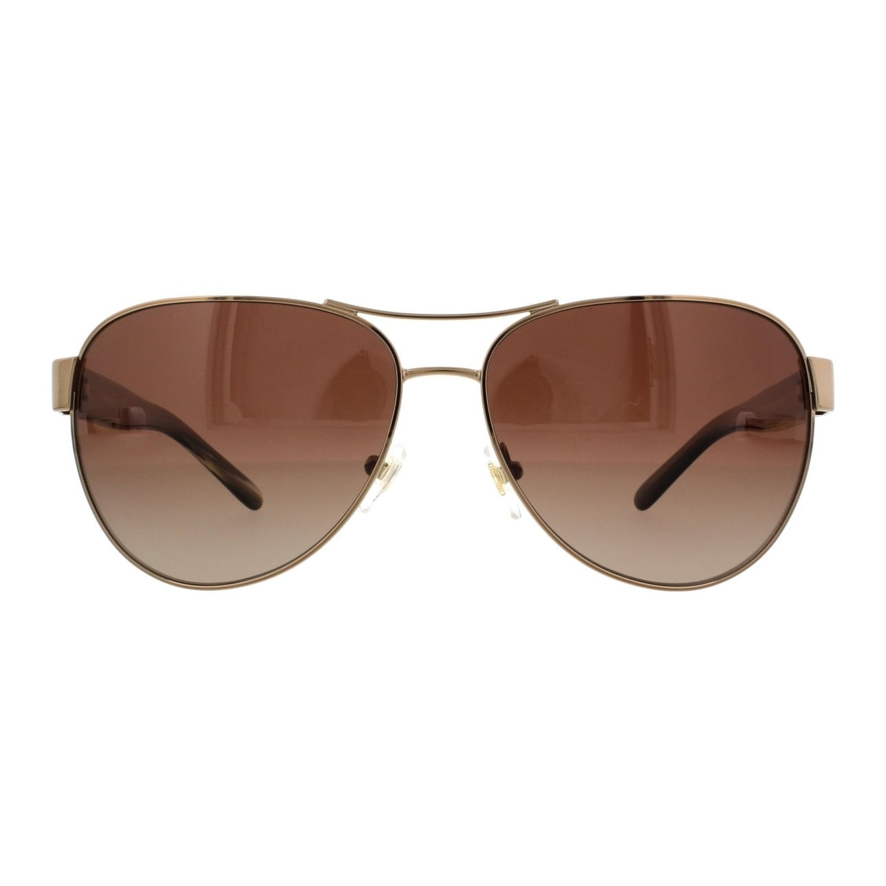 ad1d420a4123 Shop Tory Burch TY6051 Womens Gold Frame Brown Lens Aviator Sunglasses -  Free Shipping Today - Overstock.com - 14692328