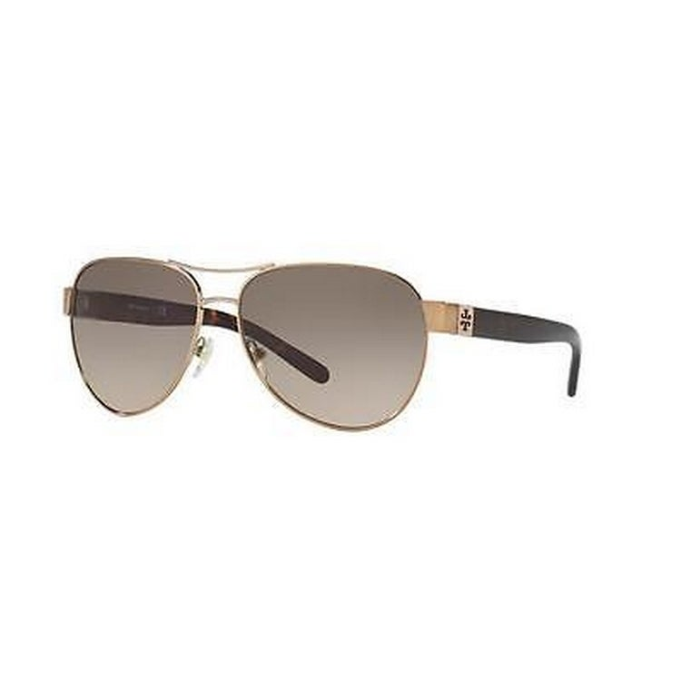 5664182d6e77 Shop Tory Burch TY6051 Womens Gold Frame Green Lens Aviator Sunglasses - Free  Shipping Today - Overstock - 14692340