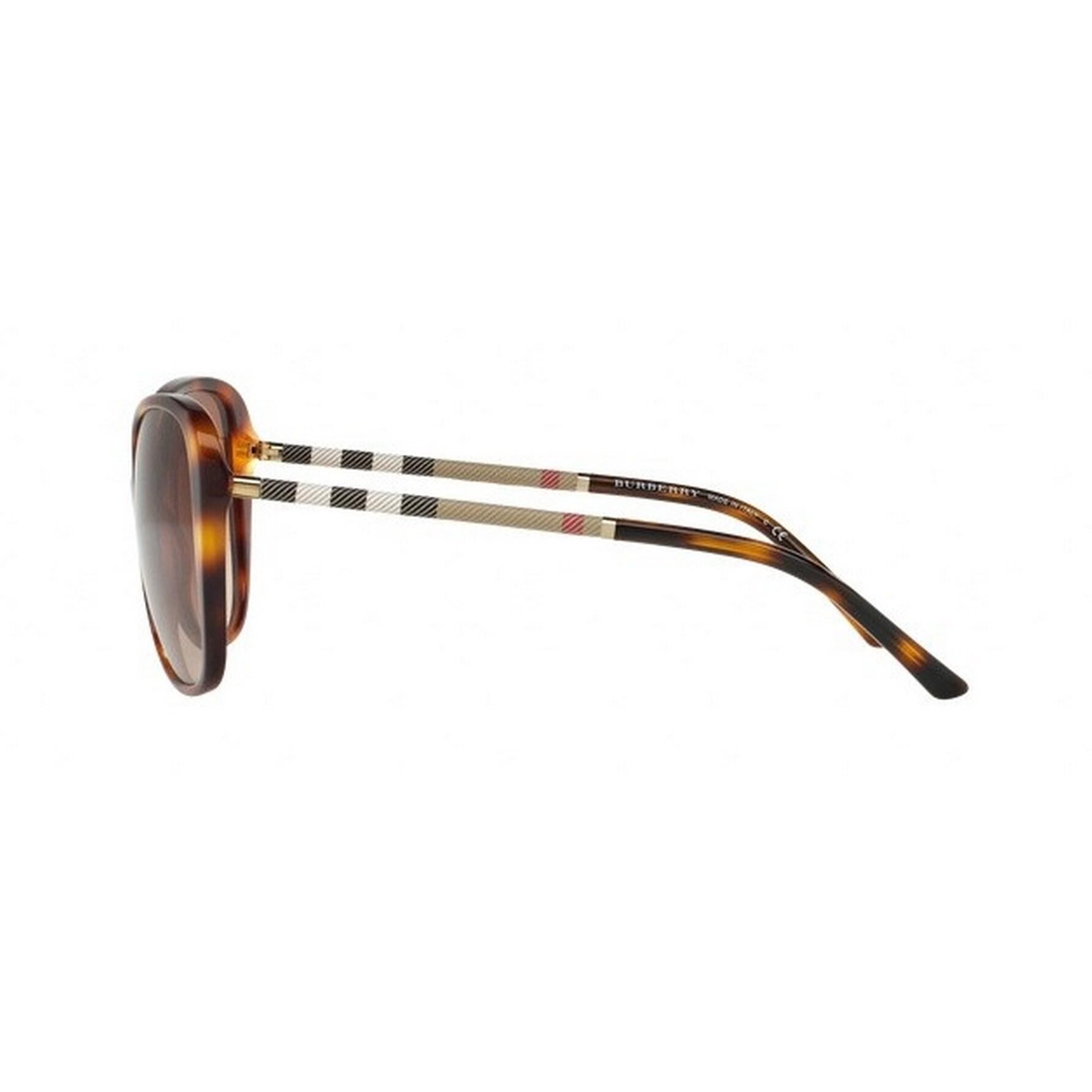 0cd40b3a10b0 Shop Burberry Women s BE4235QF 331613 57 Cateye Plastic Havana Brown  Sunglasses - Free Shipping Today - Overstock.com - 14692556