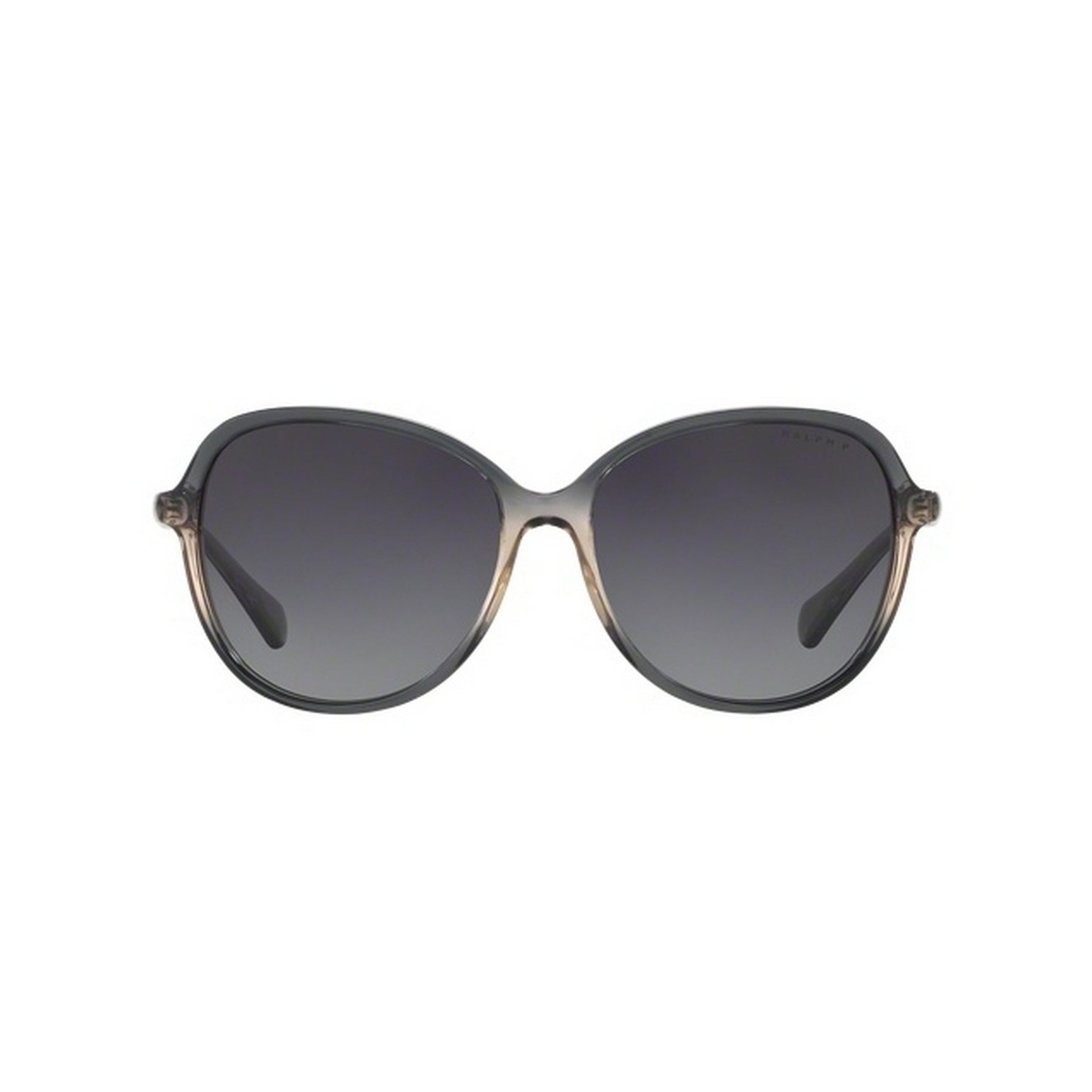 98894870164a Shop Ralph by Ralph Lauren Women's RA5220 1584T3 57 Round Plastic Grey Grey  Sunglasses - Free Shipping Today - Overstock - 14692702
