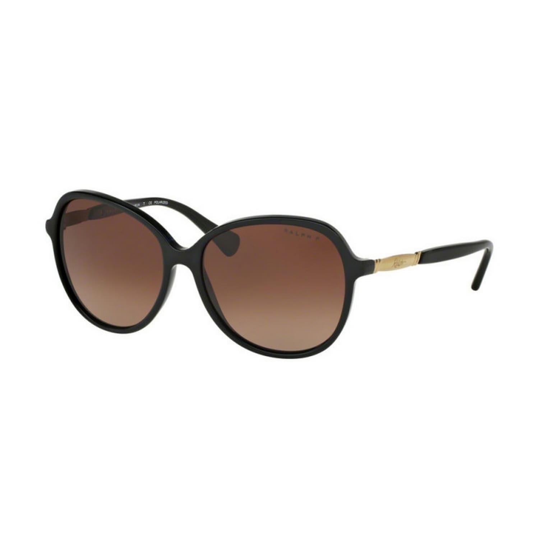 e77c813df95f Ralph by Ralph Lauren Women's RA5220 1377T5 57 Round Plastic Black Brown  Sunglasses