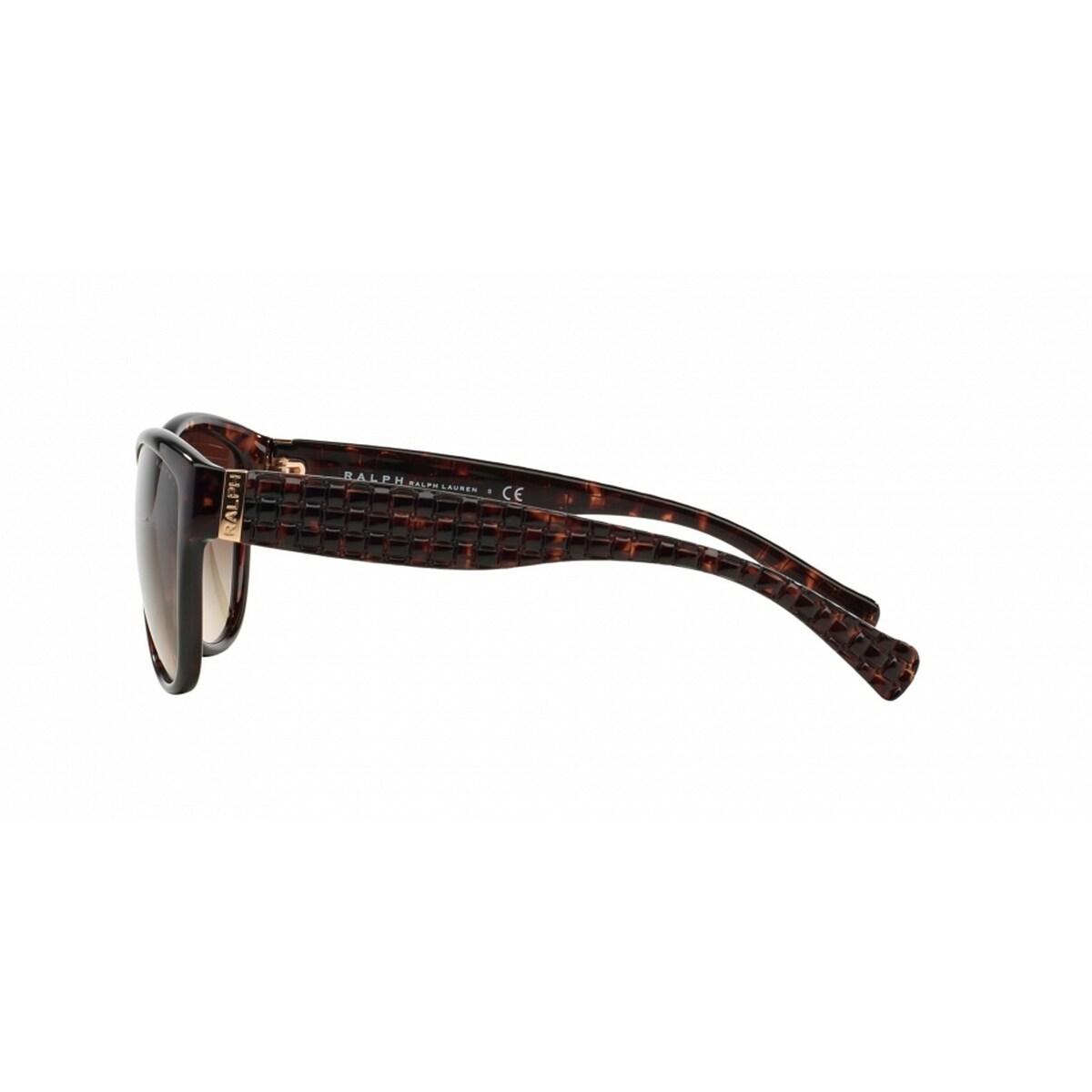 726dd4c8a534 Shop Ralph by Ralph Lauren Women's RA5176 50213 58 Cateye Plastic Havana  Brown Sunglasses - Free Shipping Today - Overstock - 14692898