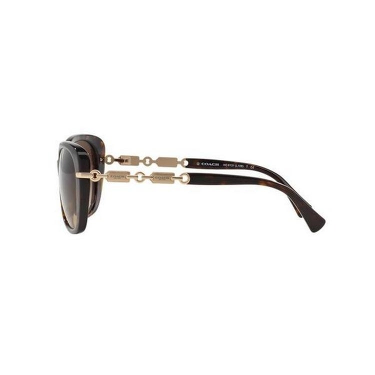 a8f03079c1 Shop Coach Women s HC8131 5308T5 58 Cateye Plastic Black Brown Sunglasses - Free  Shipping Today - Overstock - 14692905