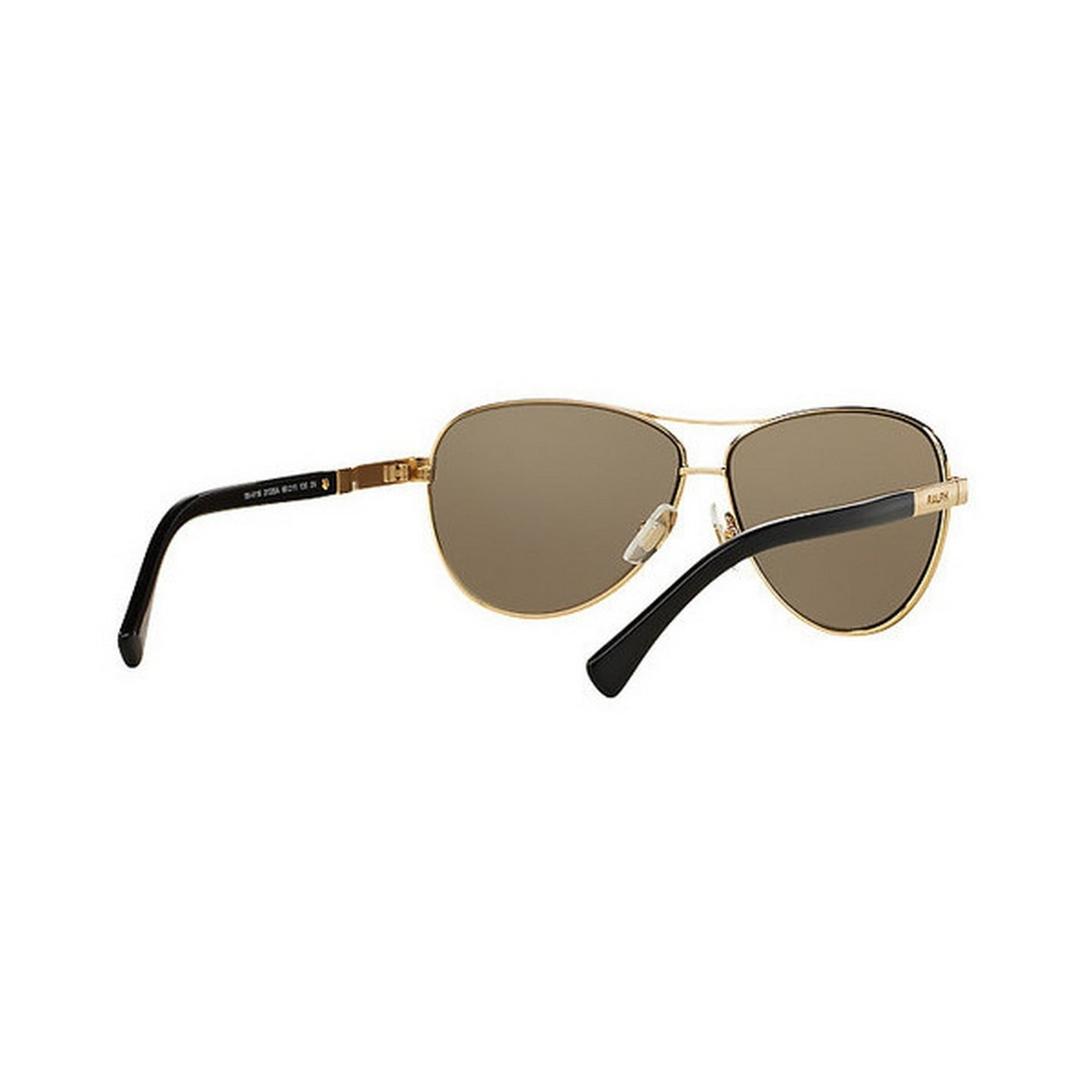 654650d09dd Shop Ralph by Ralph Lauren Women s RA4116 31335A 60 Aviator Metal Plastic  Gold Brown Sunglasses - Free Shipping Today - Overstock - 14692982