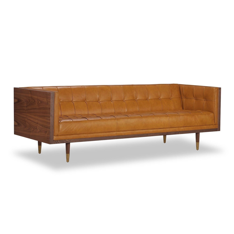 Shop Kardiel Woodrow Midcentury Modern Box Premium Aniline Leather