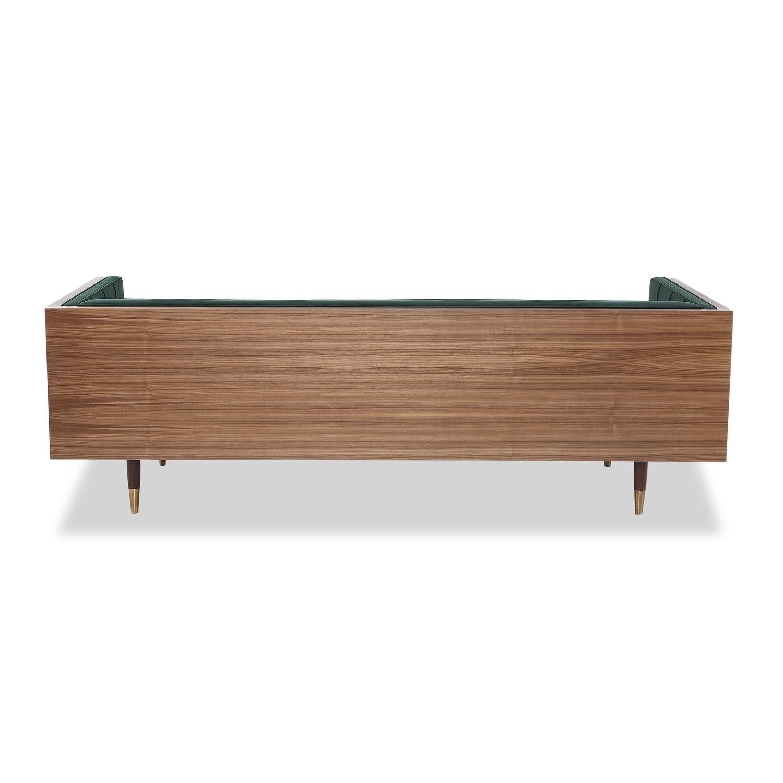 Shop kardiel woodrow box midcentury modern sofa velvet walnut free shipping today overstock com 14693163