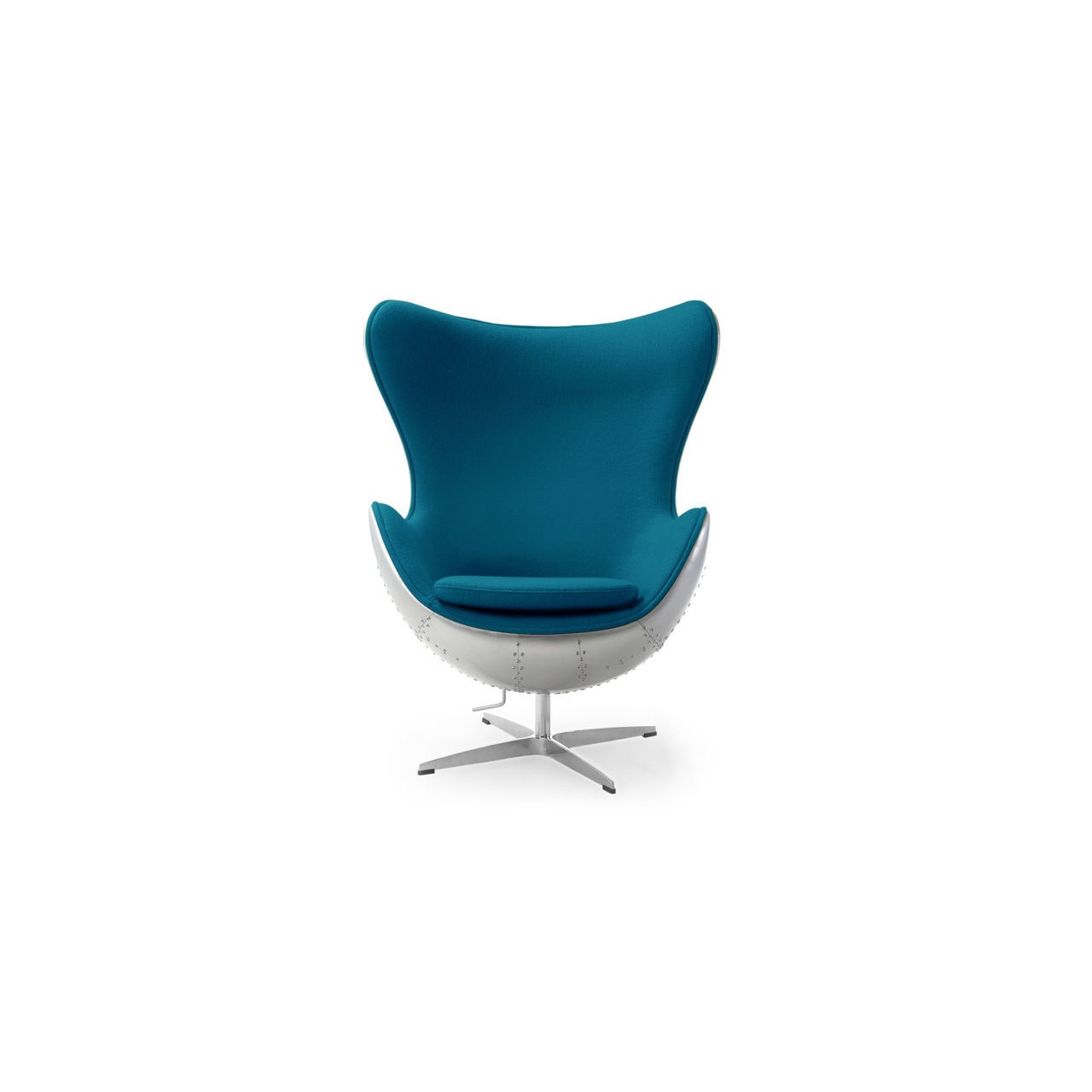 Shop Kardiel Steampunk 1958 Caribbean Cashmere Wool Egg Chair   Free  Shipping Today   Overstock.com   14693189