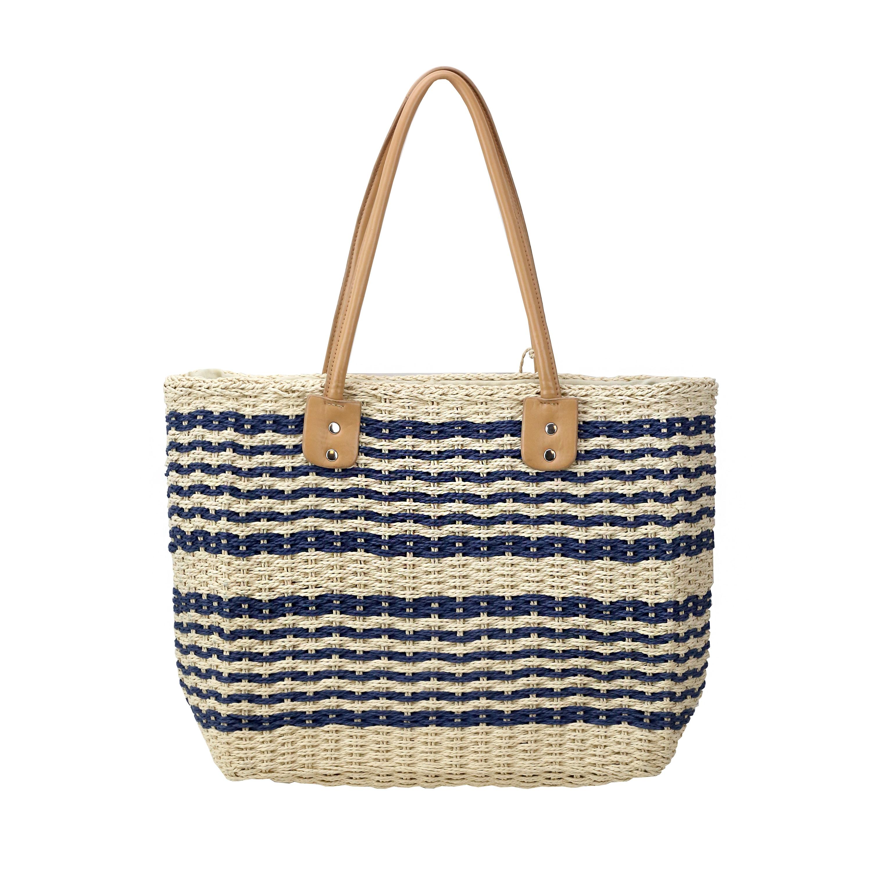Olivia Miller Olivia Miller Pippy Multi Striped Straw Tote Bag Xuwa9TS