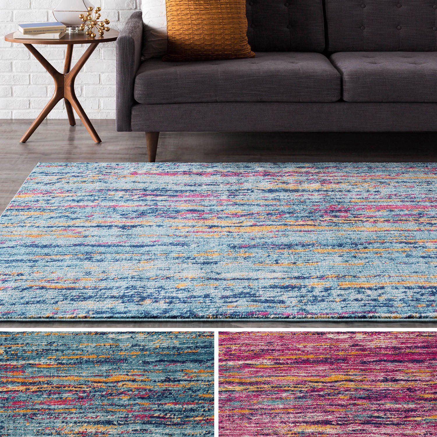 Shop Clay Alder Home Fisher Woven Modern Colorful Area Rug - On Sale ...