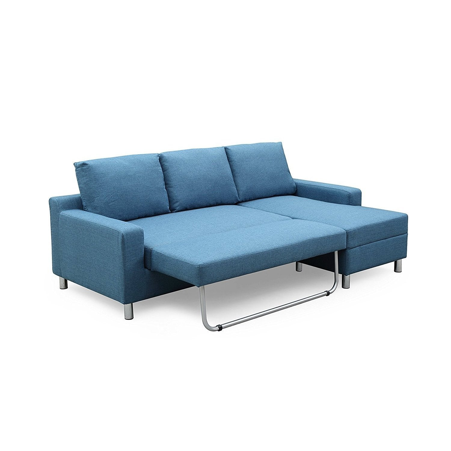 Shop US Pride Furniture Hampton Linen Fabric Sectional Sofa with ...