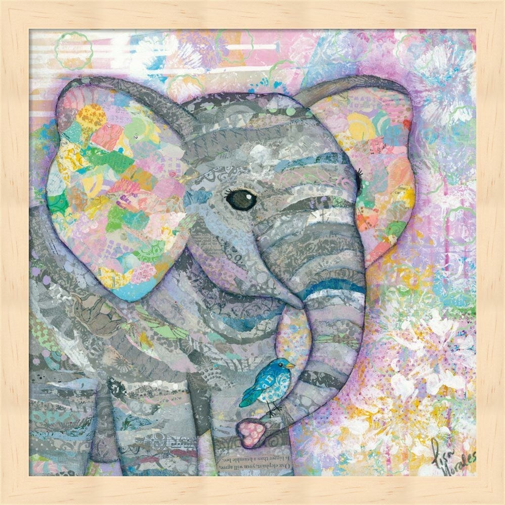Shop Lisa Morales \'Sweet Baby Elephant I\' Framed Art - Free Shipping ...