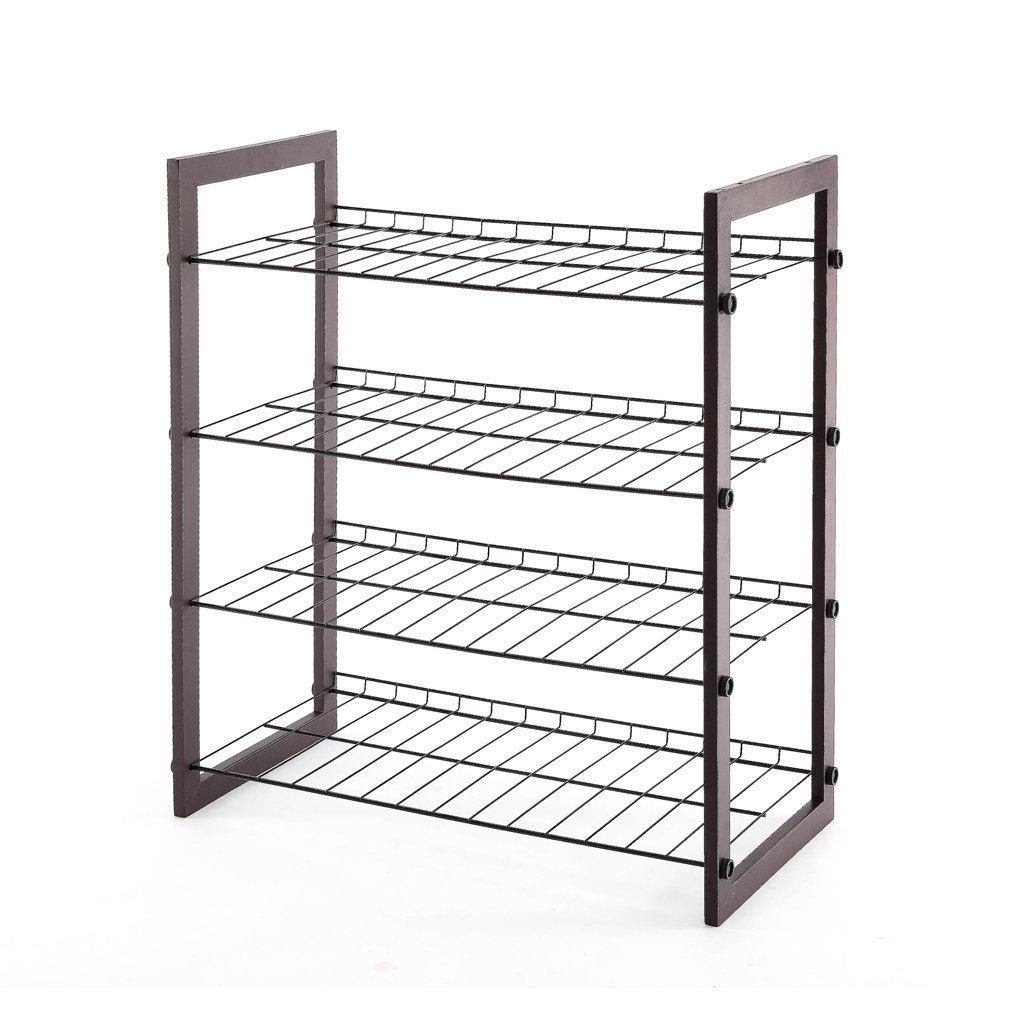 Shop StorageManiac 4-Tier, 12-Pair Shoe Rack, Black Steel Wire with ...