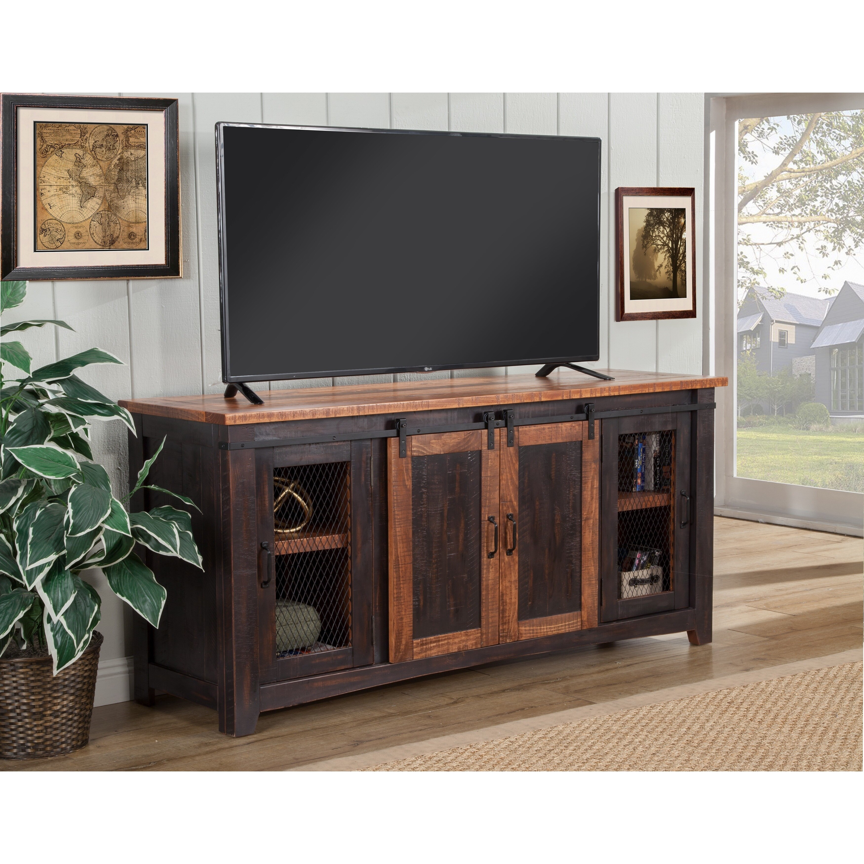 Shop Martin Svensson Home Santa Fe 65 Tv Stand 65 Inches In Width