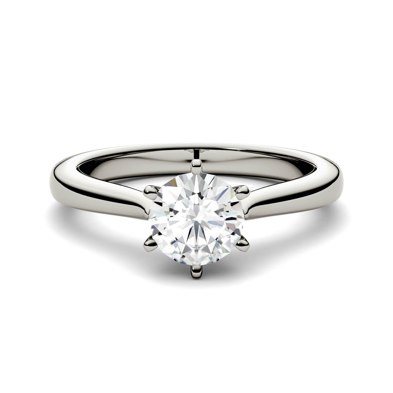 hsamuel igi engagement diamond ring platinum solitaire rings forever certified