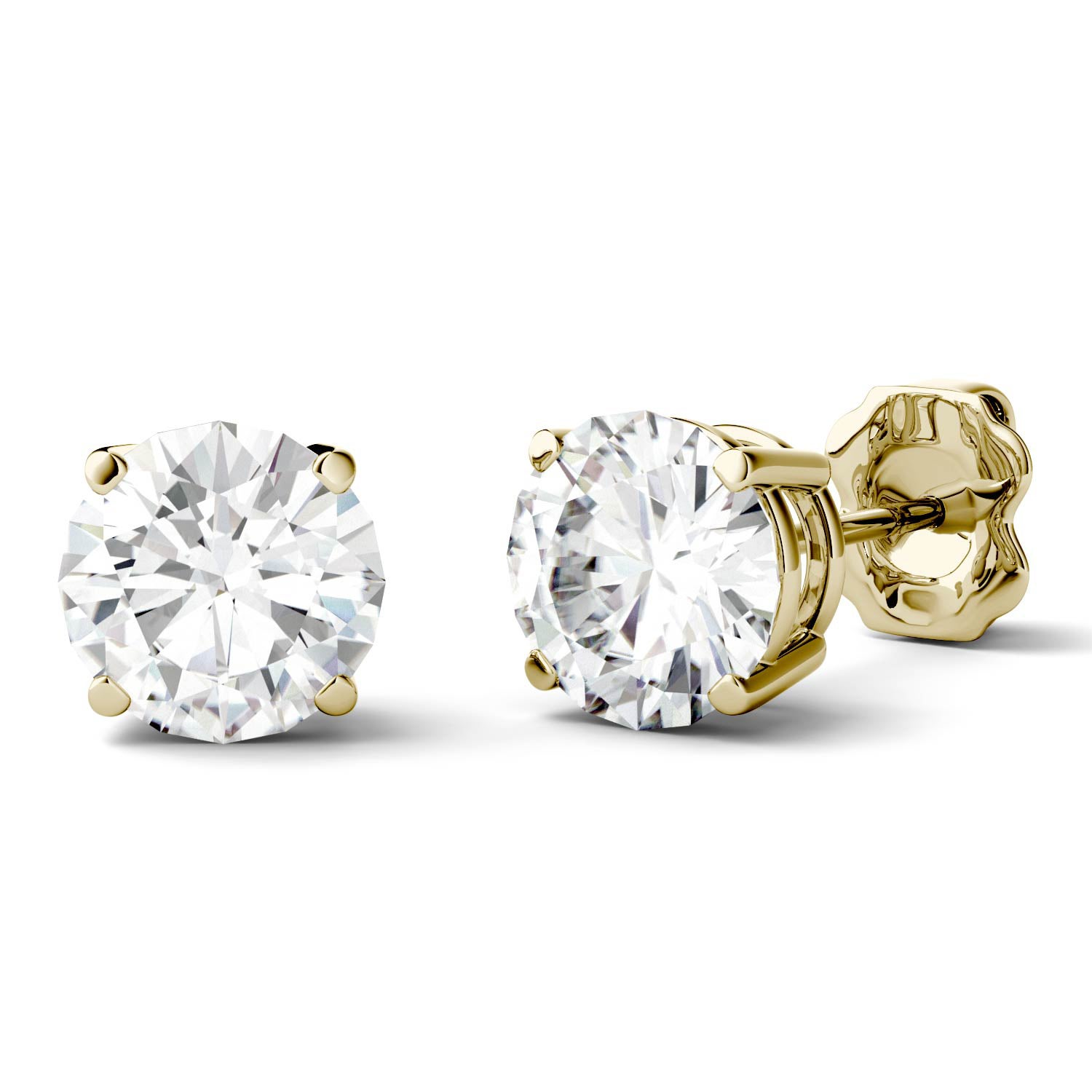 one gold earring hole bezel great yel genuine diamond stud tiny a earrings set products ideal gift or stunning measuring for copy white plated an with