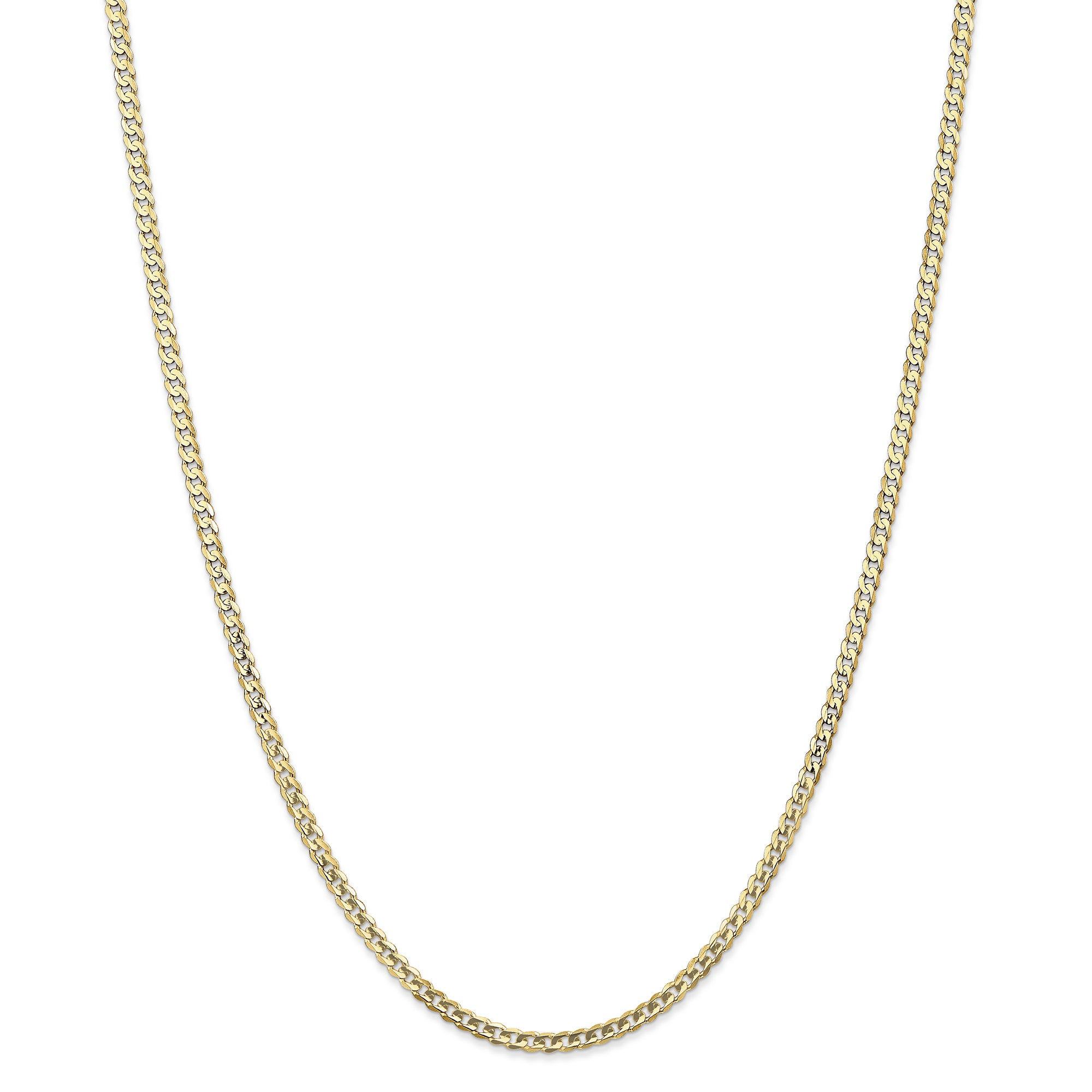 f9e99823d4593 14 Karat Yellow Gold 3mm Concave Curb Chain Necklace by Versil