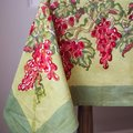 Couleur Nature Grapevines Red/Green Table Cloth