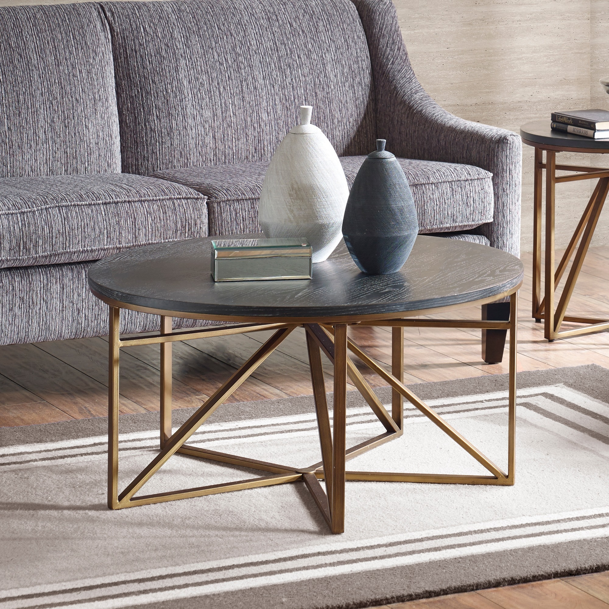 Shop Madison Park Kayden Antique Bronze Coffee Table   On Sale   Free  Shipping Today   Overstock.com   14724937