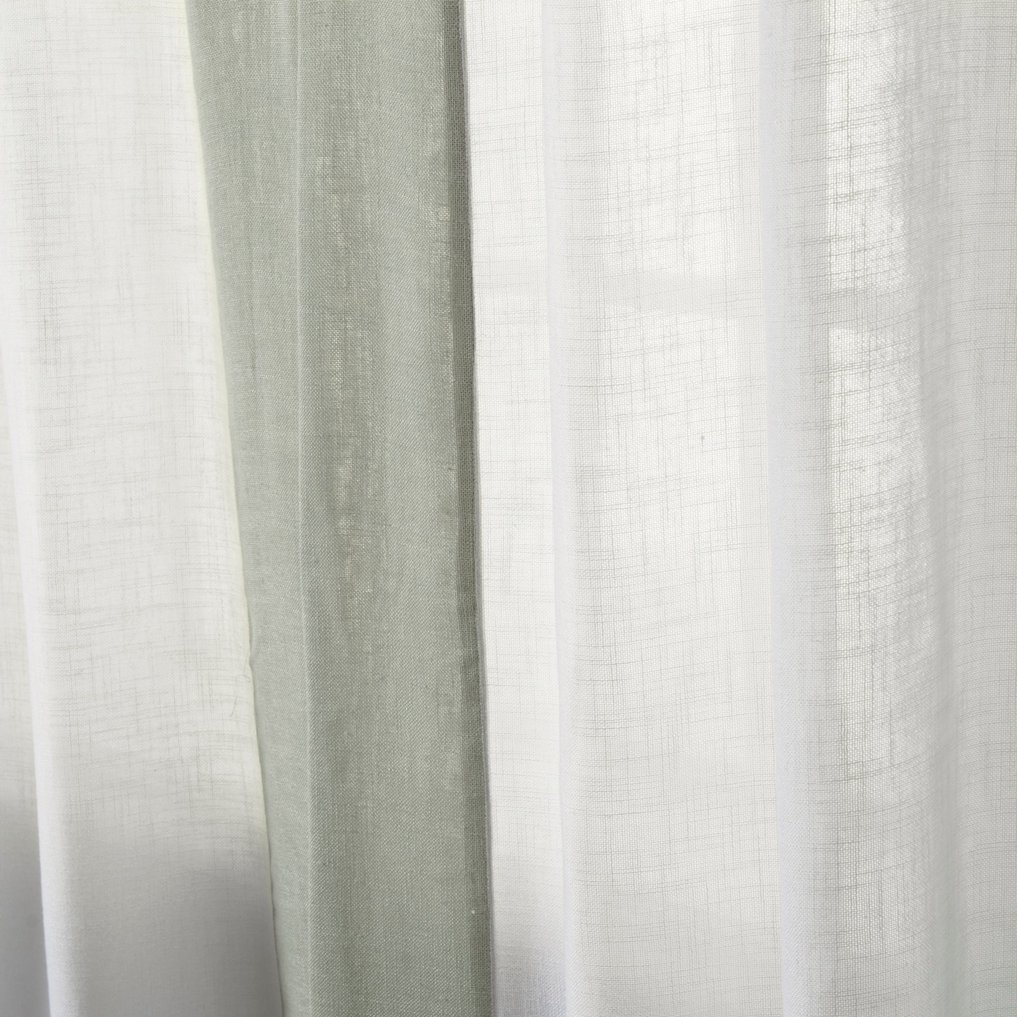 Aurora Home Colorblock Border Linen Blend Curtain Panel Pair 52 X 84 On Free Shipping Today 14741449