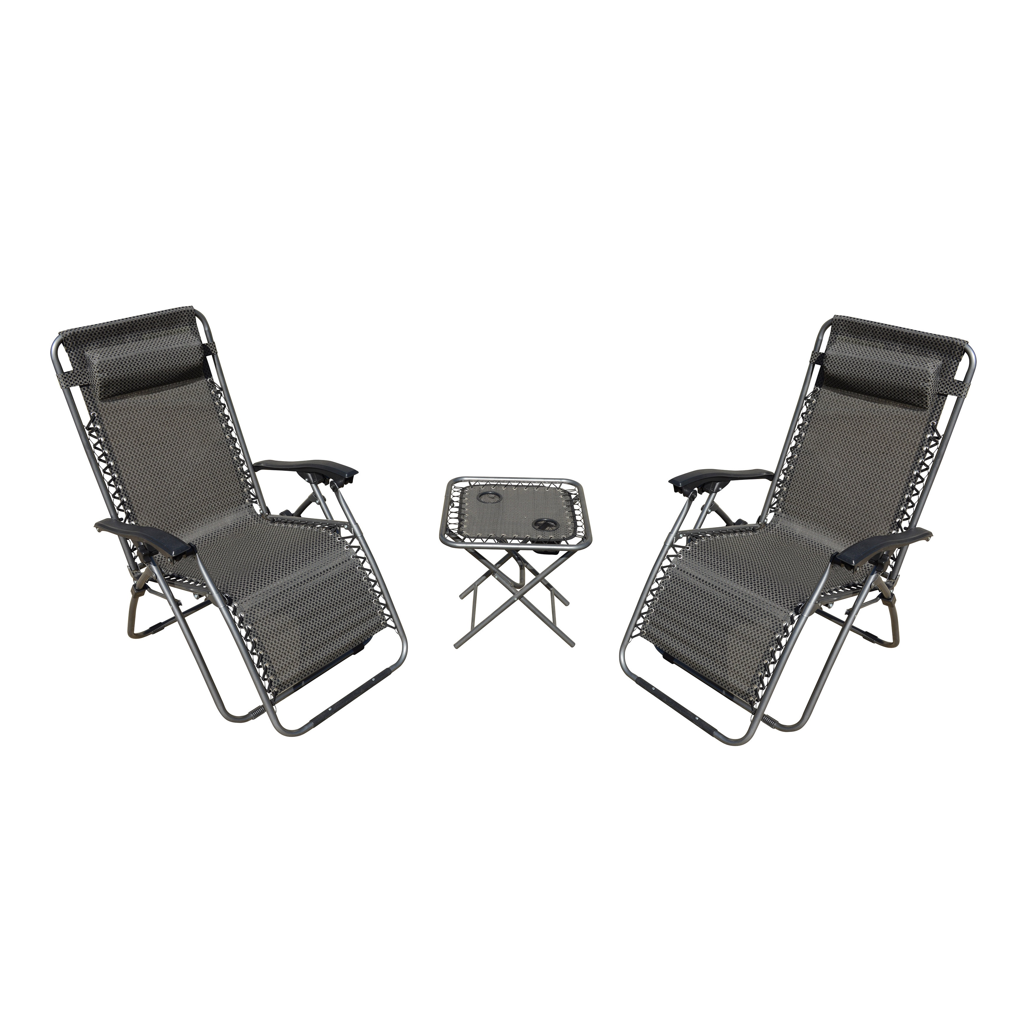 Shop Zero Gravity 3 Piece Camping Chairs And Table Set   Free Shipping  Today   Overstock.com   14741775