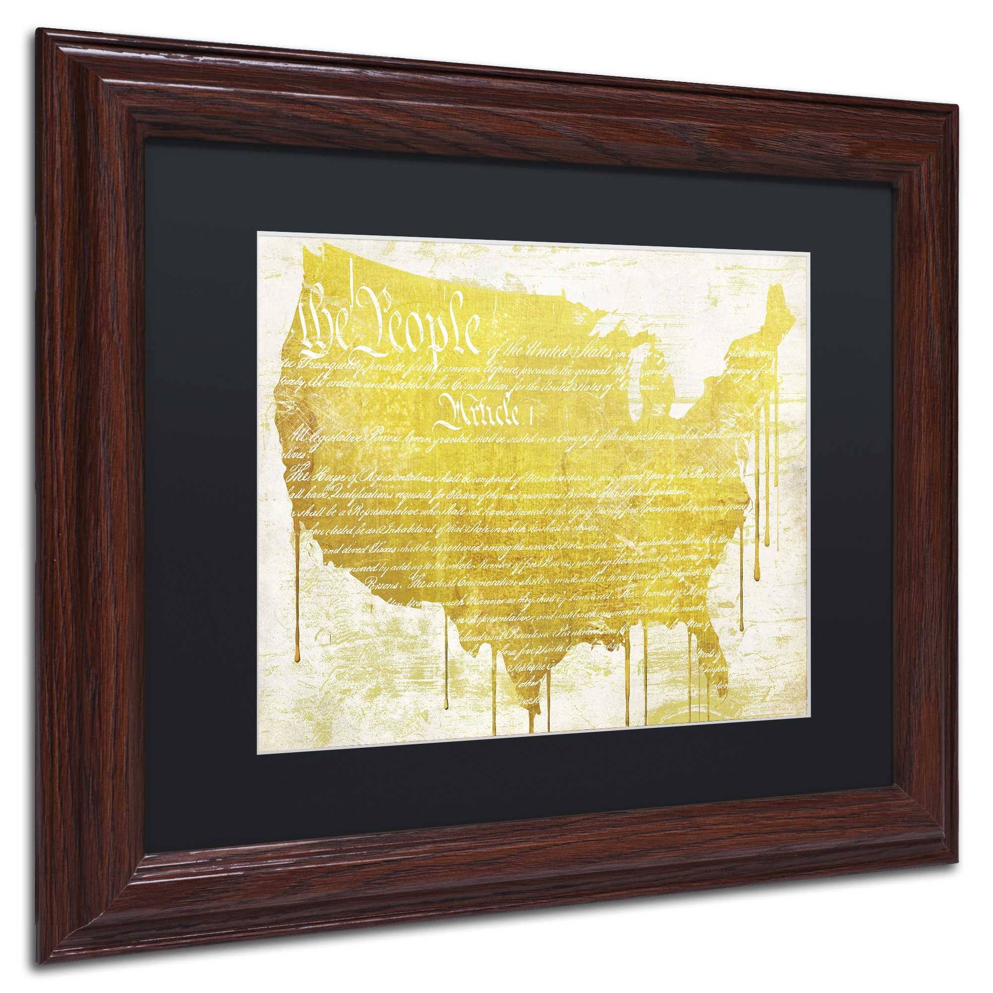 Color Bakery \'American Dream II\' Matted Framed Art - Yellow - Free ...