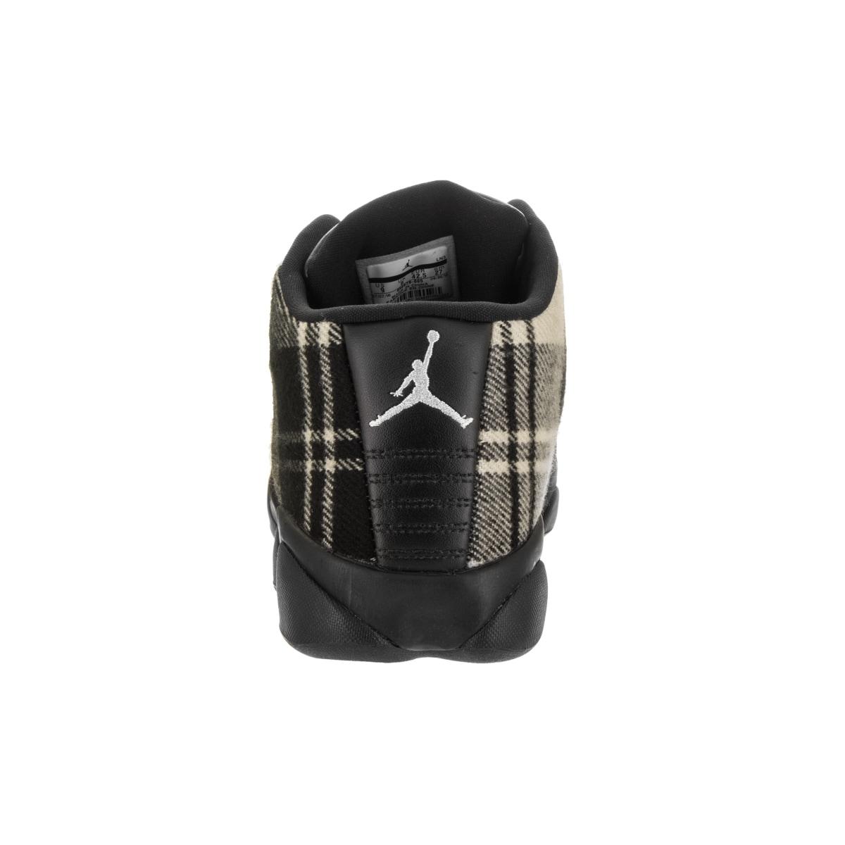 d56f82c32ff7 Shop Nike Men s Jordan Horizon Low Premium Black Leather Basketball Shoe -  Free Shipping Today - Overstock - 14746813