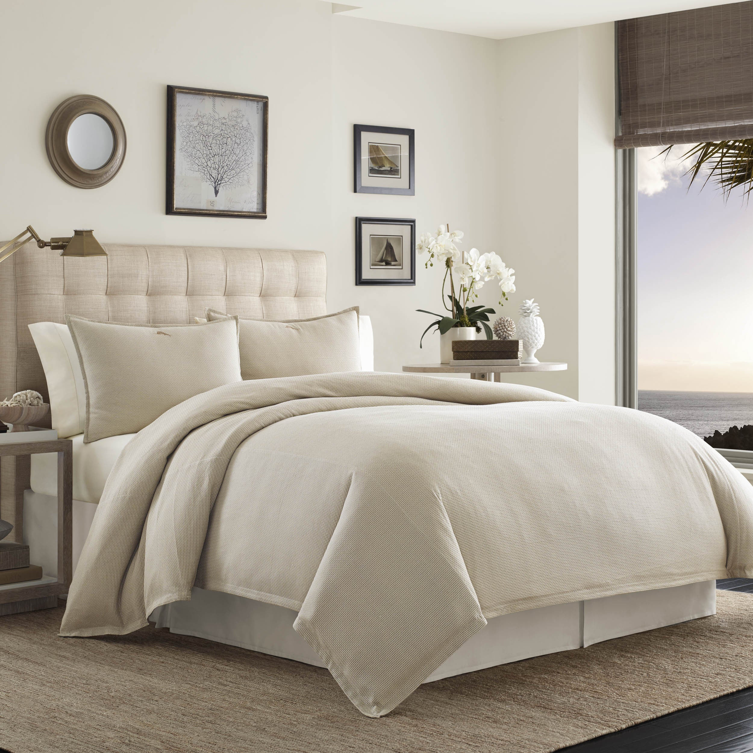 comforter overstock tommy today free bedding palms bath set shipping product raffia bahama king