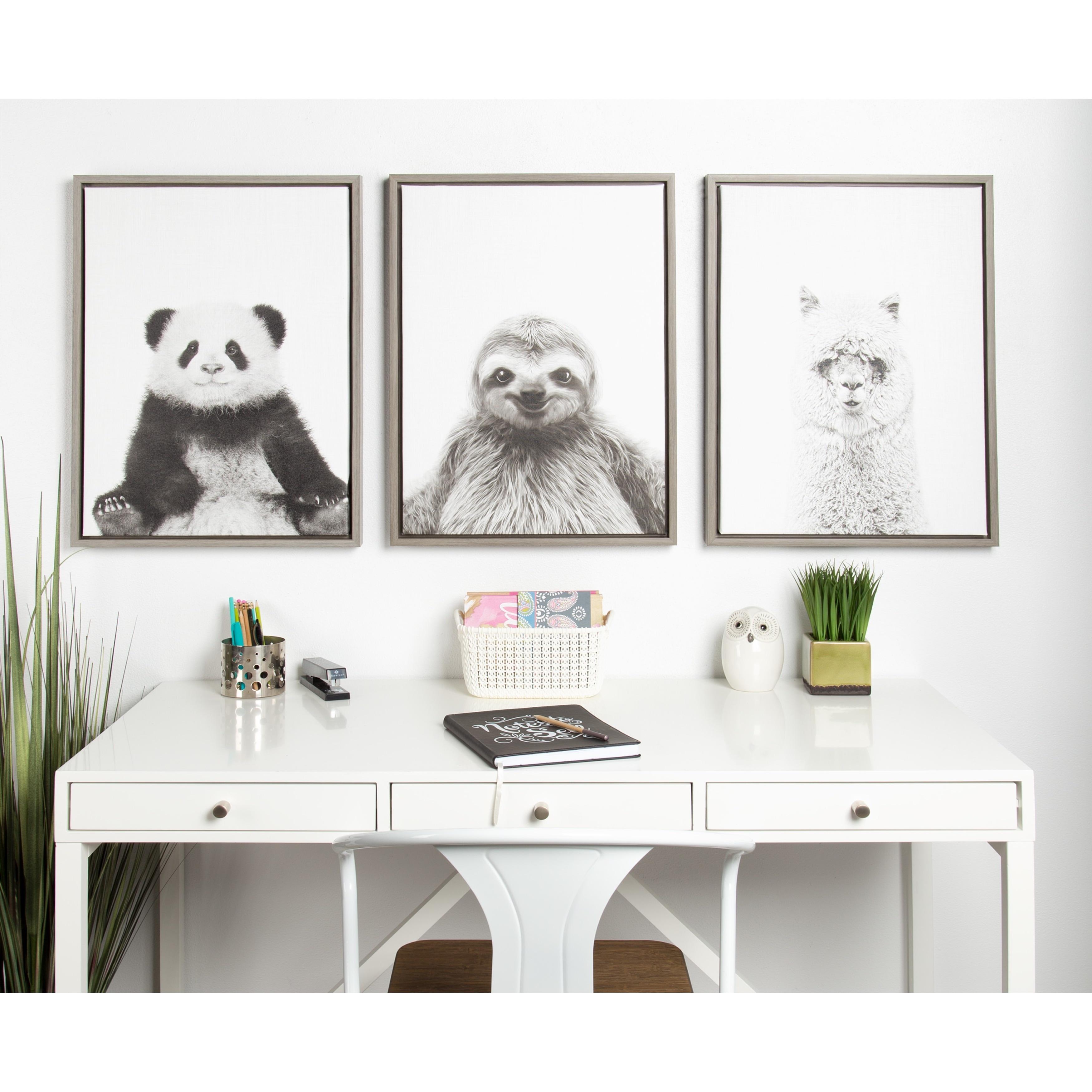 Shop DesignOvation Simon Te Tai \'Sylvie Sloth\' Black and White ...