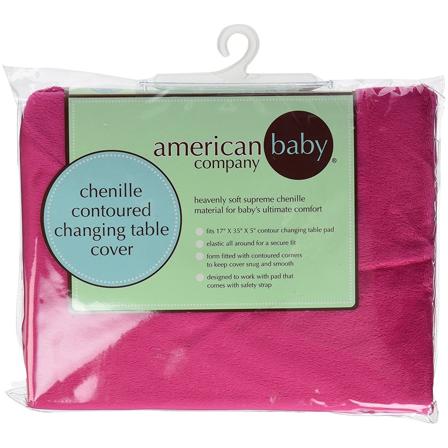 Shop American Baby Company Heavenly Soft Fuchsia Chenille Fitted - American table pad company