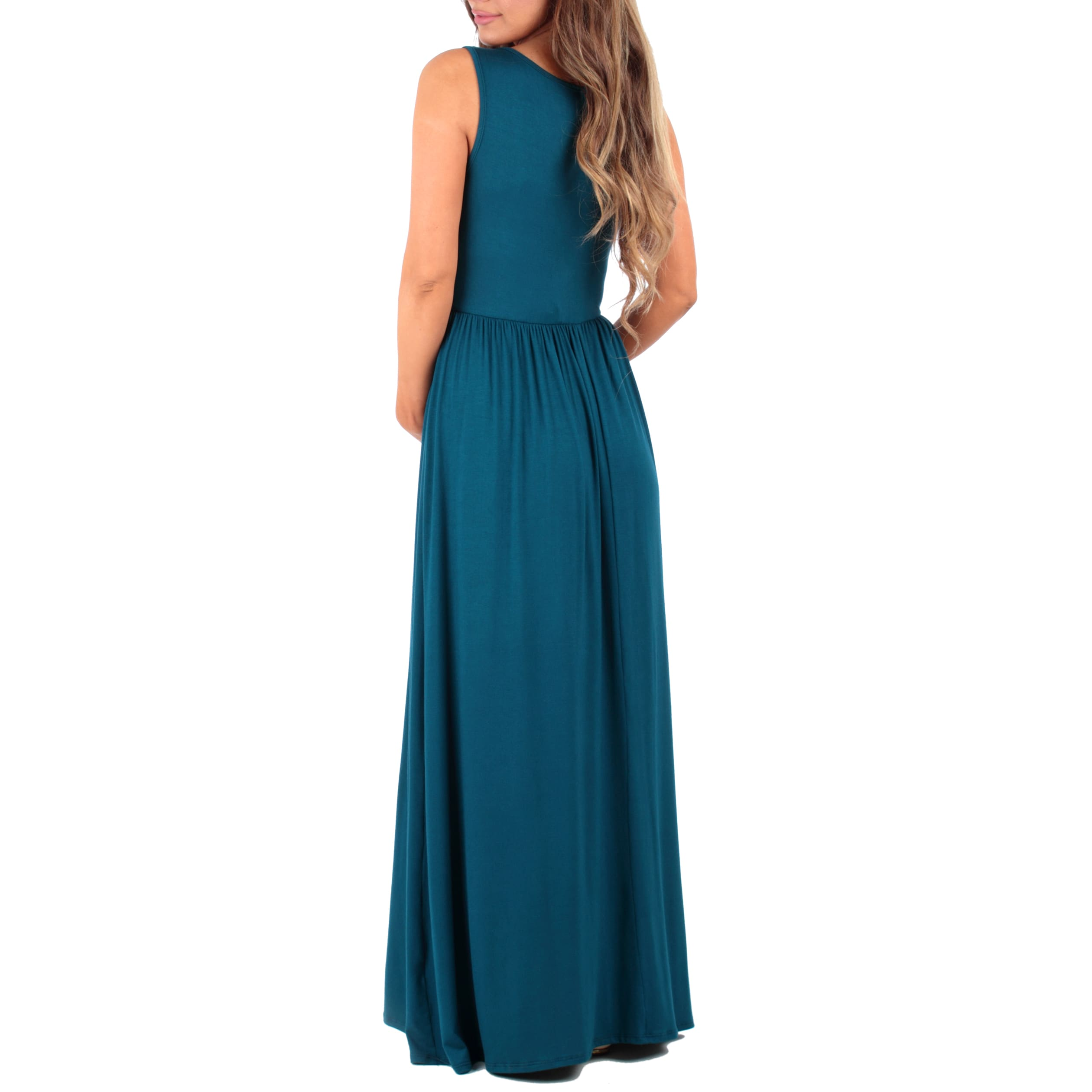 c29fd47979e0f Shop Mother Bee Women's Ruched Sleeveless Maternity Dress - Free Shipping  On Orders Over $45 - Overstock - 14770922