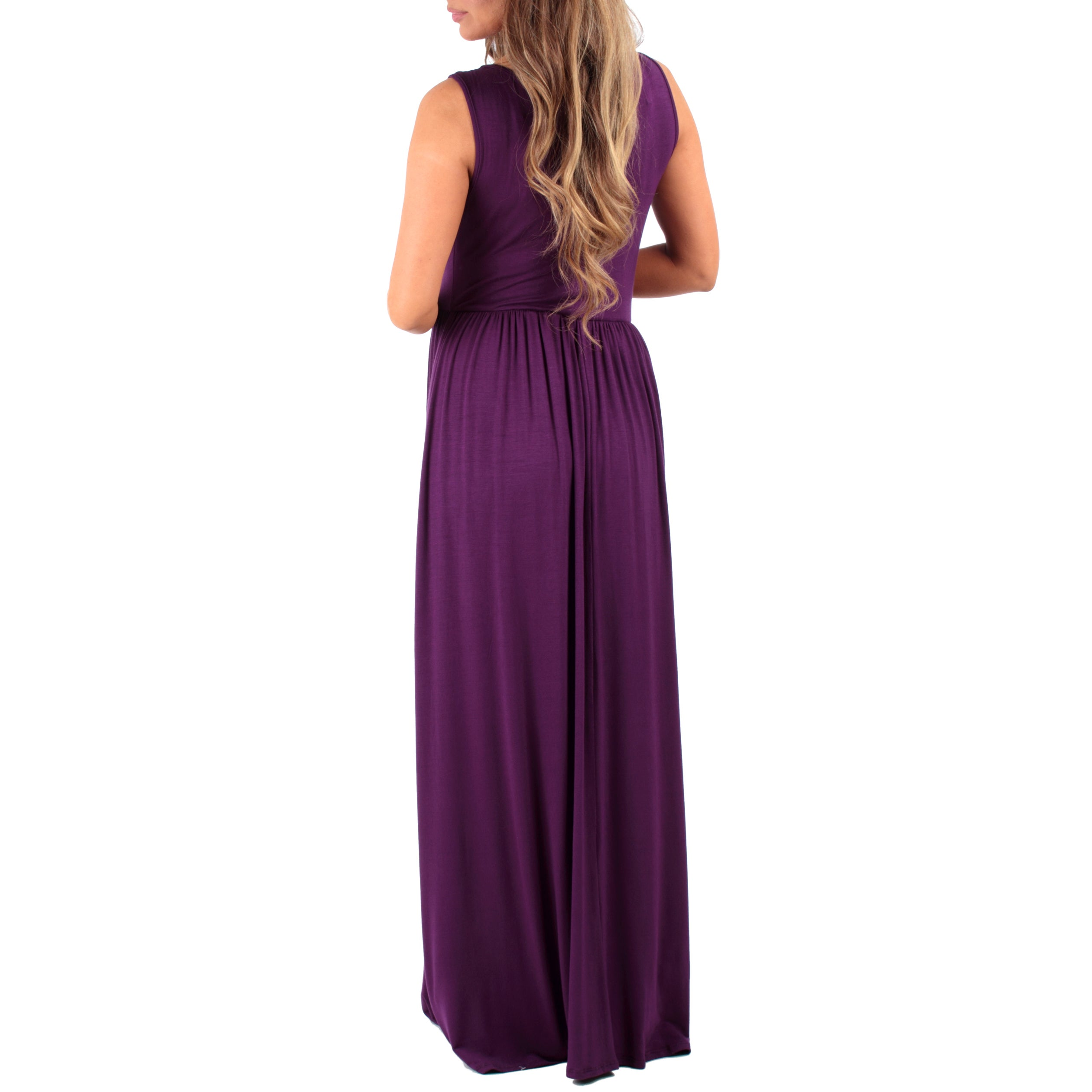 c97aac627b8ad Shop Mother Bee Women's Ruched Sleeveless Maternity Dress - Free Shipping  On Orders Over $45 - Overstock - 14770922