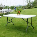 Indoor/Outdoor 6-foot Plastic Portable Camping Picnic Table