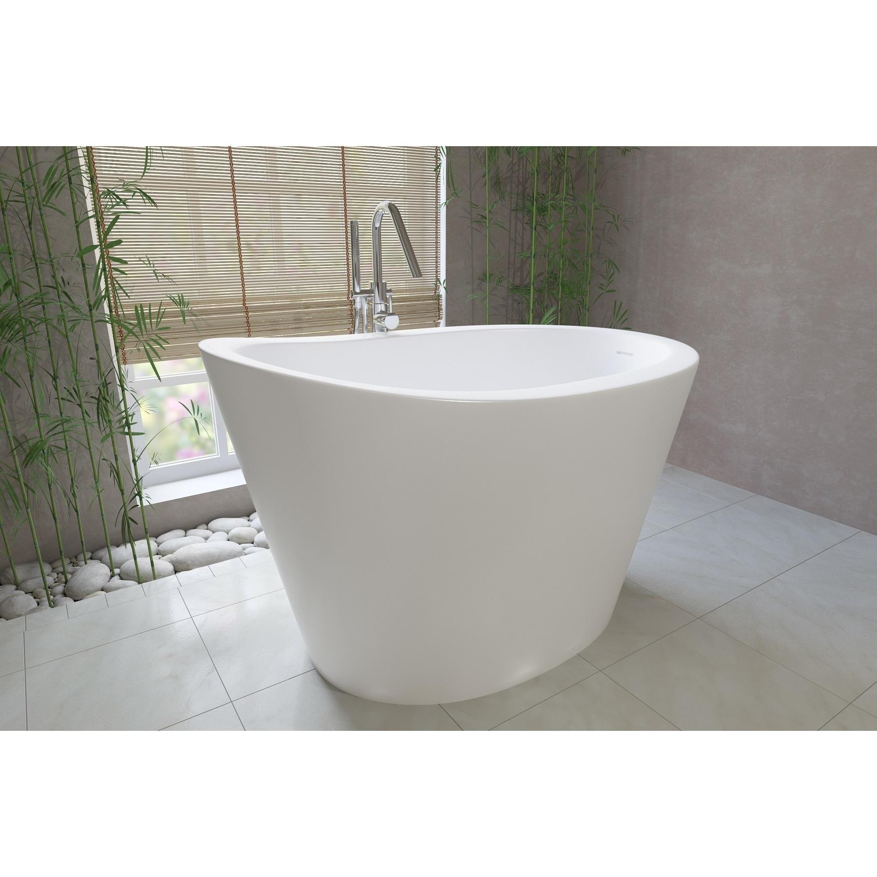 Shop Aquatica True Ofuro Freestanding Stone Japanese Soaking Bathtub ...