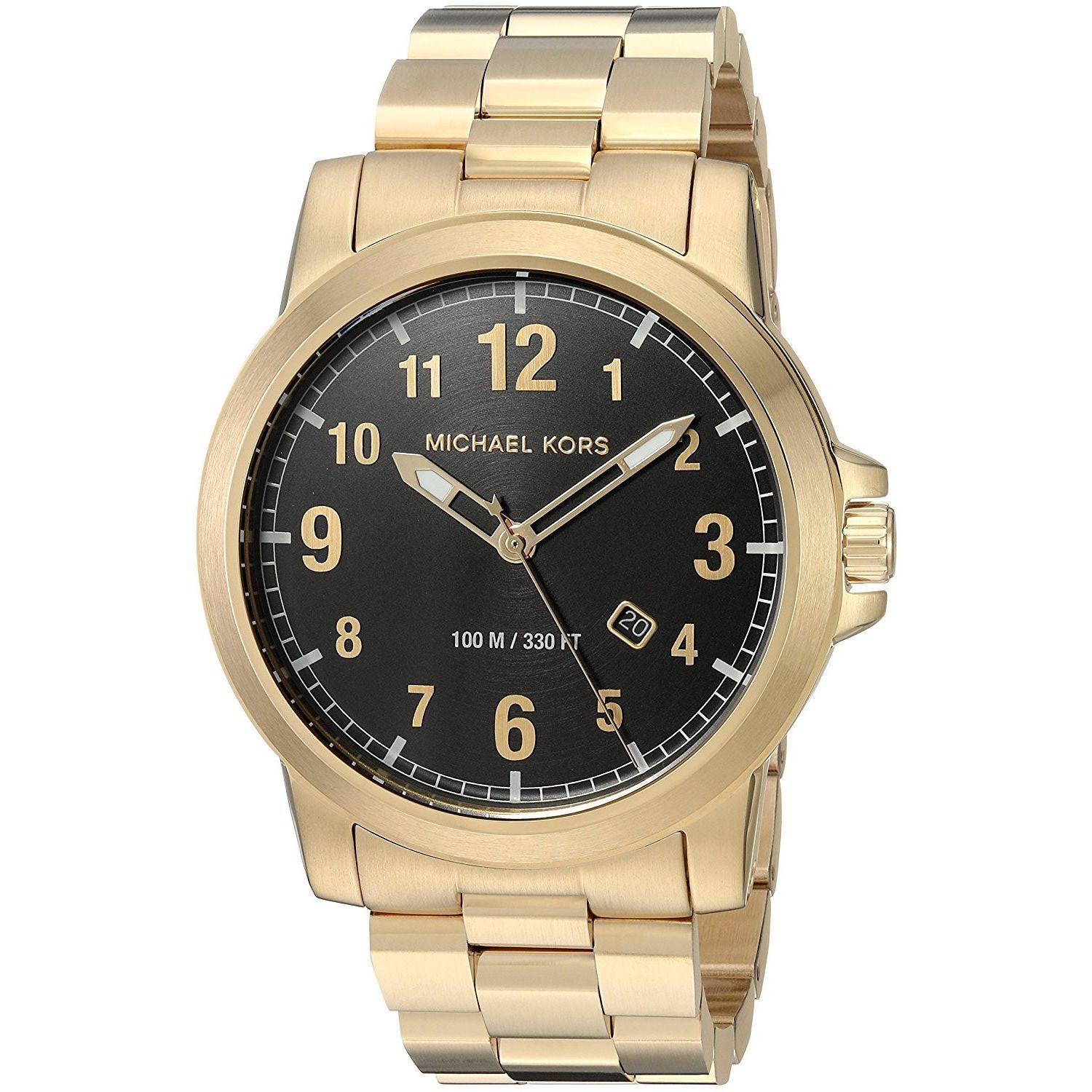 f737a8ee74f4 Shop Michael Kors Men s MK8555  Paxton  Gold-Tone Stainless Steel Watch -  Free Shipping Today - Overstock - 14778080